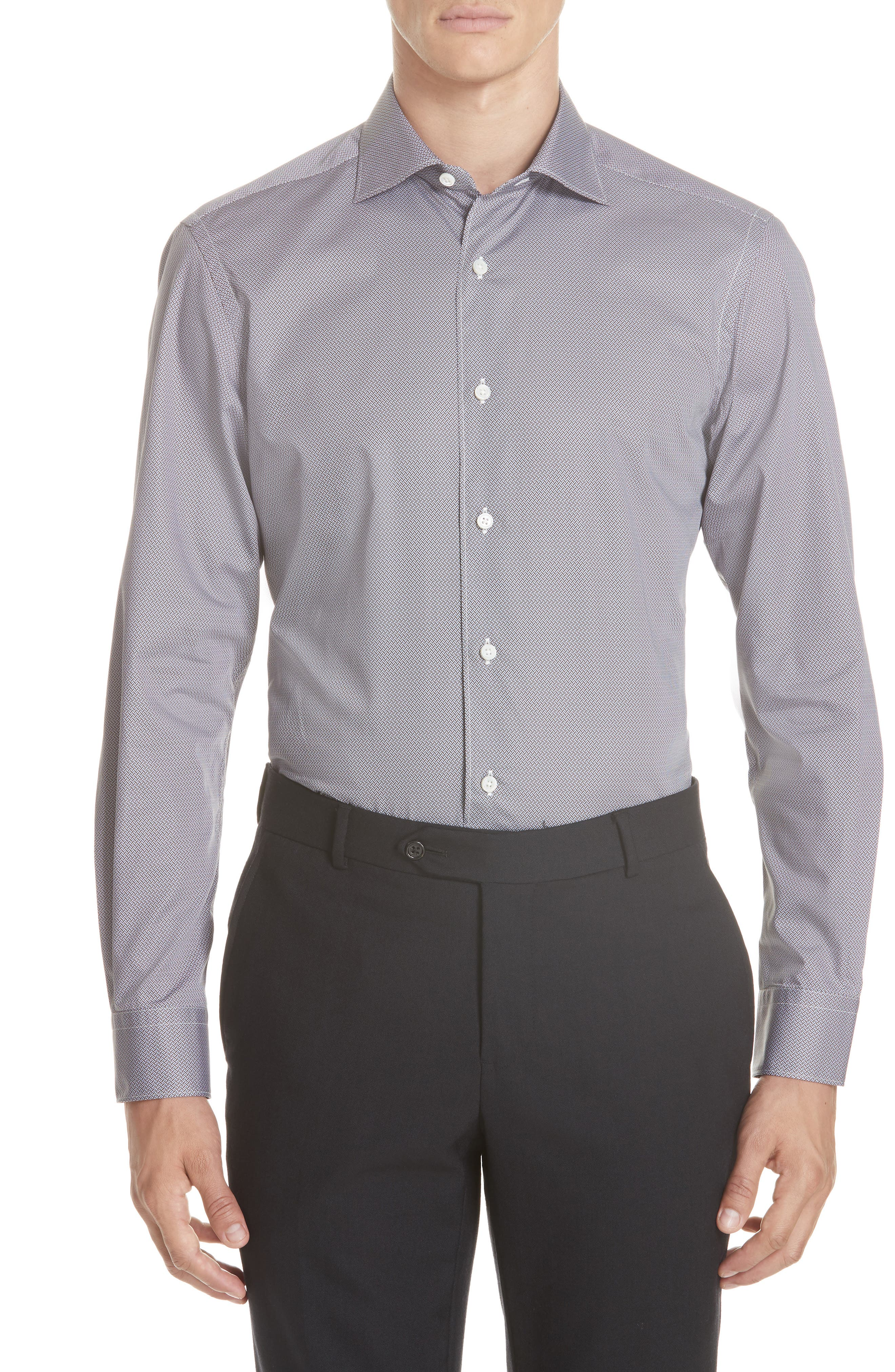 Classic Fit Geometric Sport Shirt,                         Main,                         color, 200