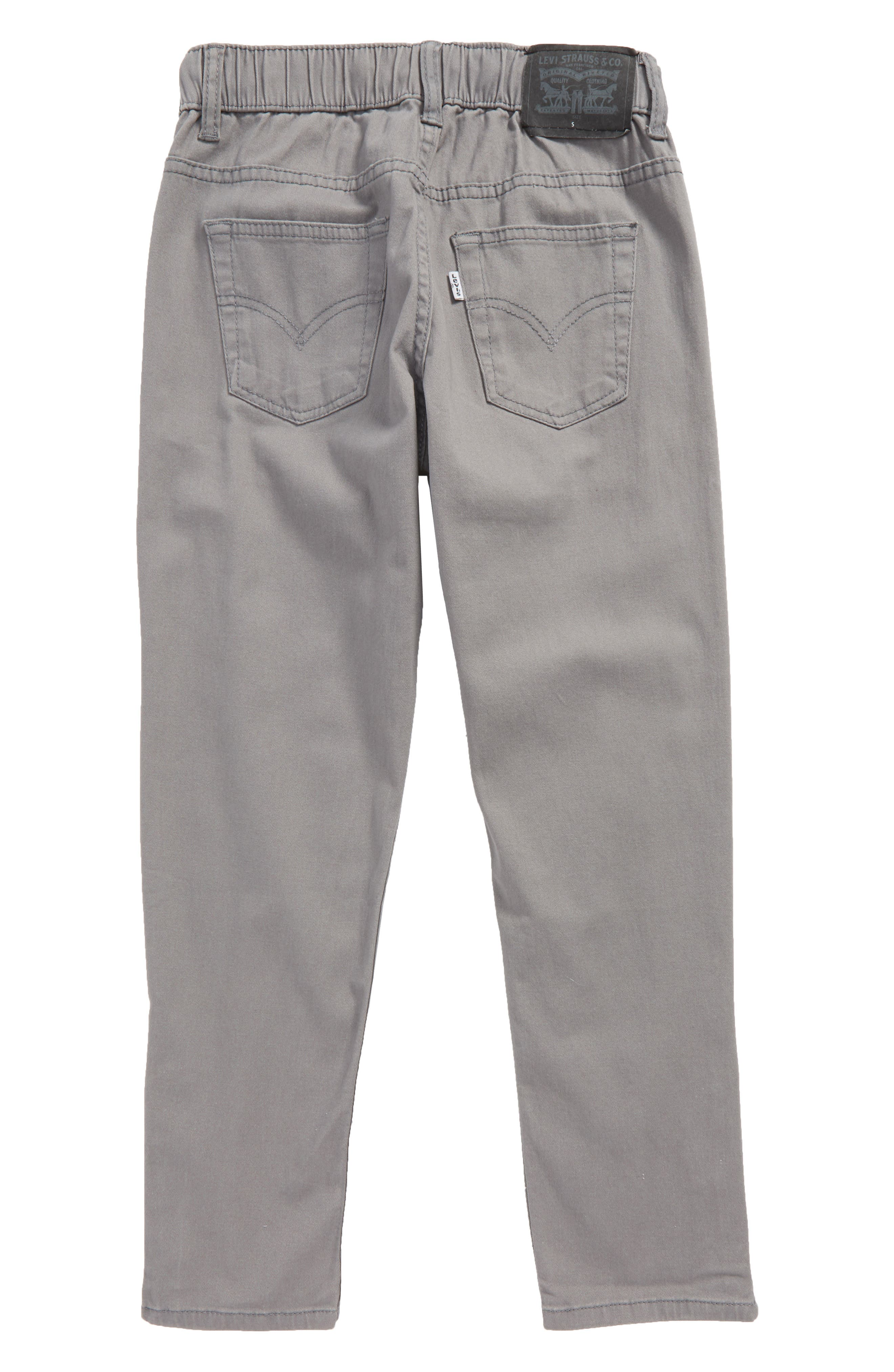 Zip Cuff Pull-On Pants,                             Alternate thumbnail 2, color,                             SMOKED PEARL