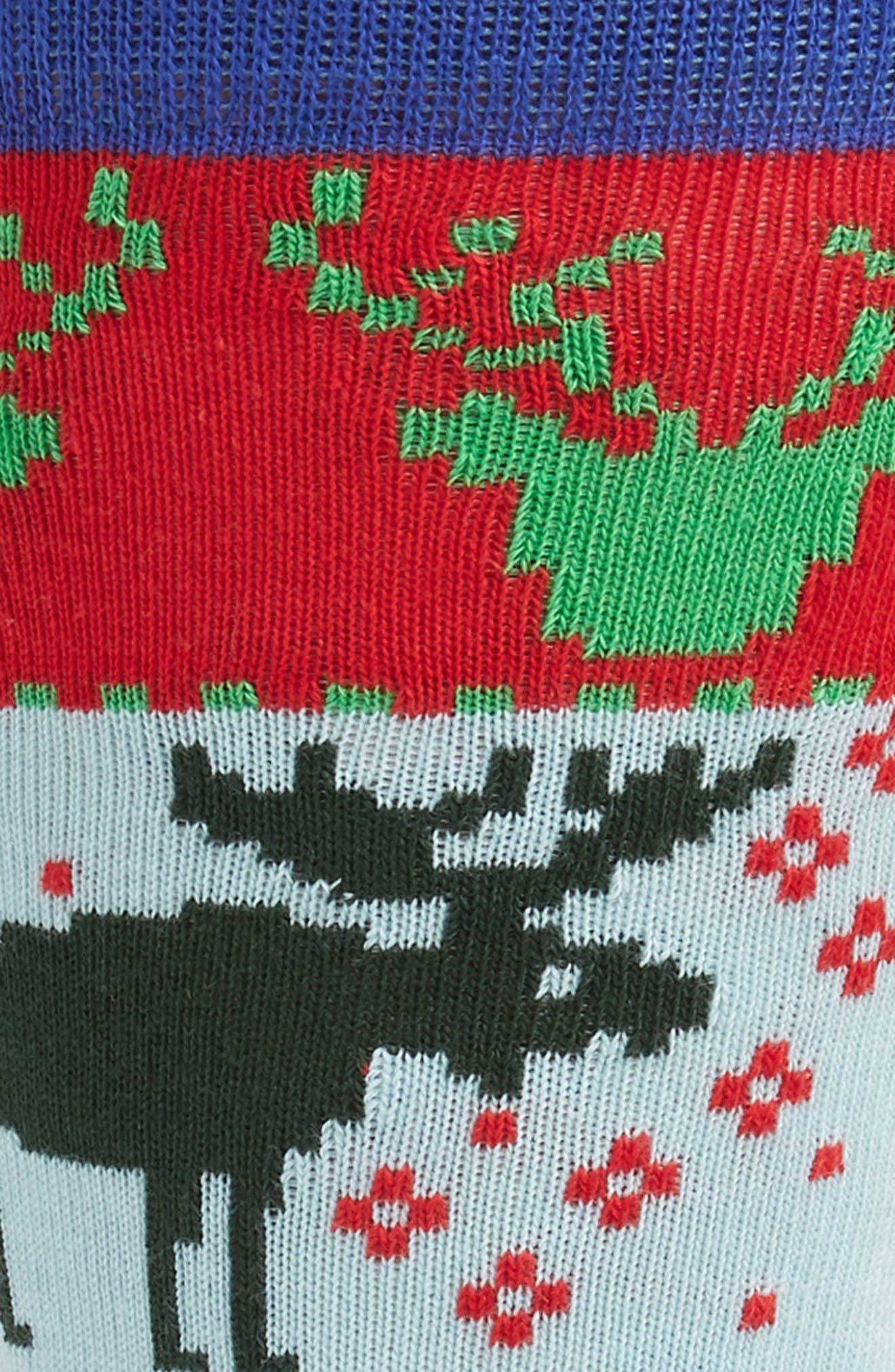 Holiday Fair Isle Socks,                             Alternate thumbnail 2, color,                             GREEN MULTI
