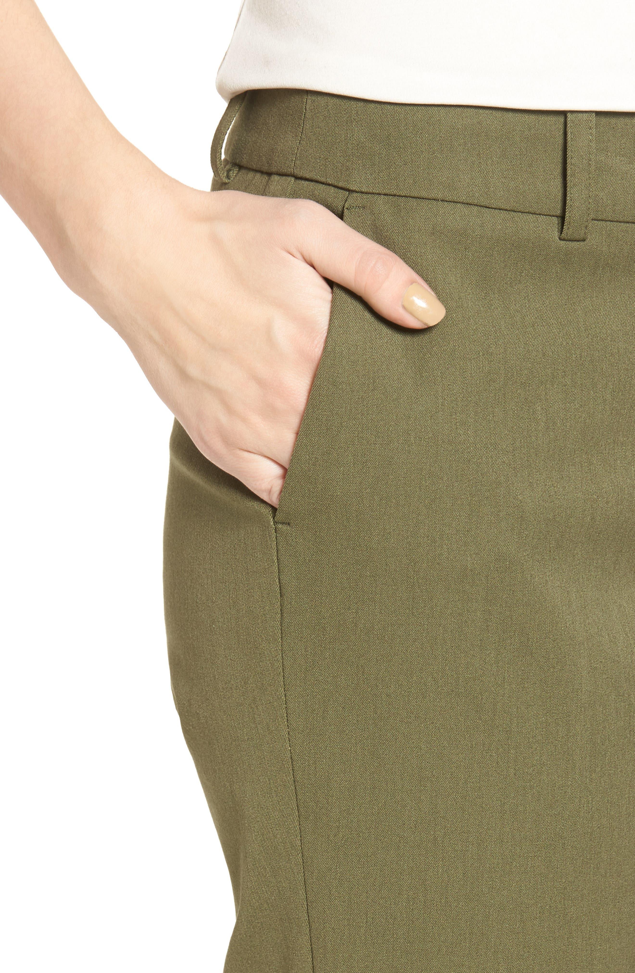 Crop Stretch Cotton Pants,                             Alternate thumbnail 76, color,