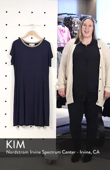 Metallic Crewneck Shift Dress, sales video thumbnail