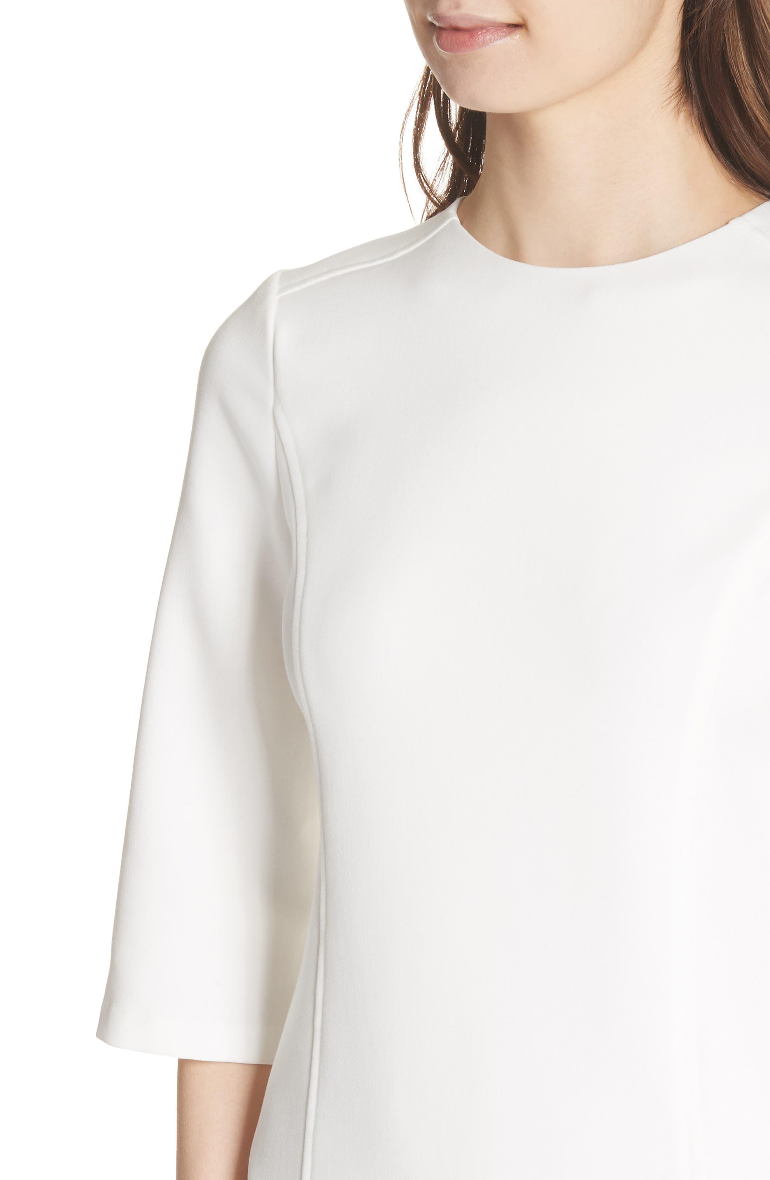 Gem Shift Dress,                             Alternate thumbnail 4, color,                             OFF WHITE