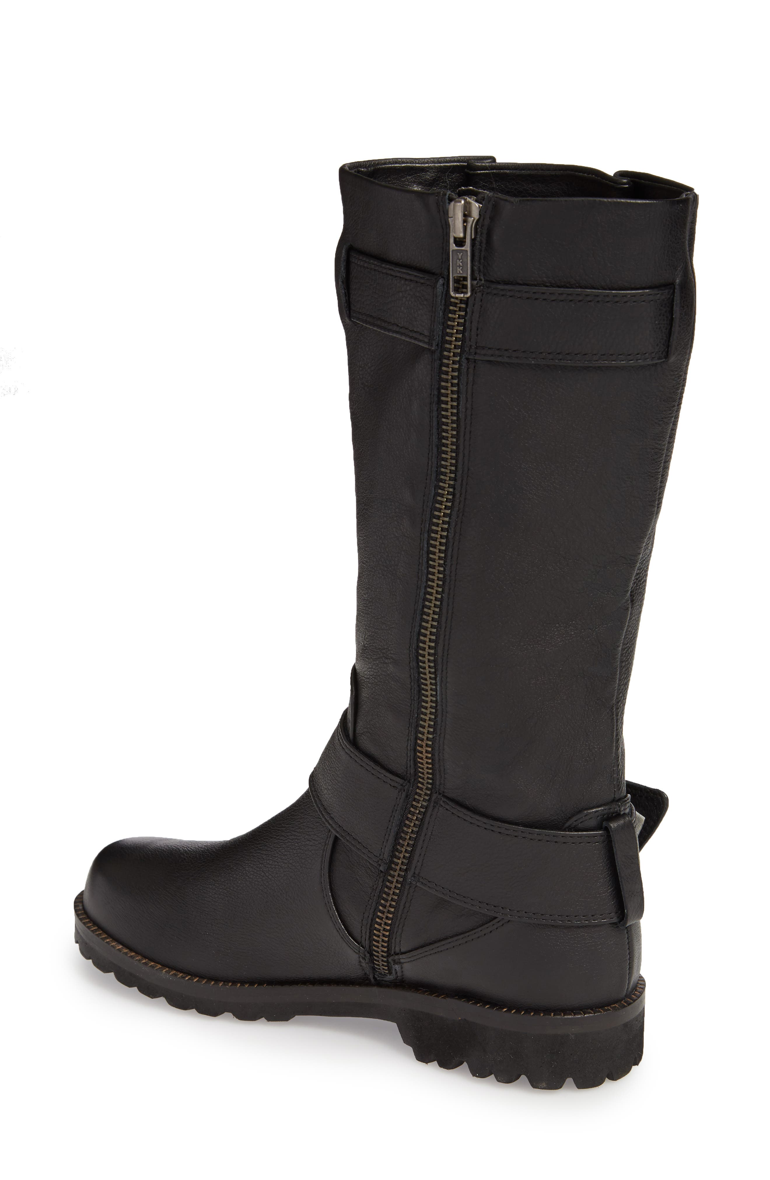 by Kenneth Cole 'Buckled Up' Boot,                             Alternate thumbnail 3, color,                             BLACK