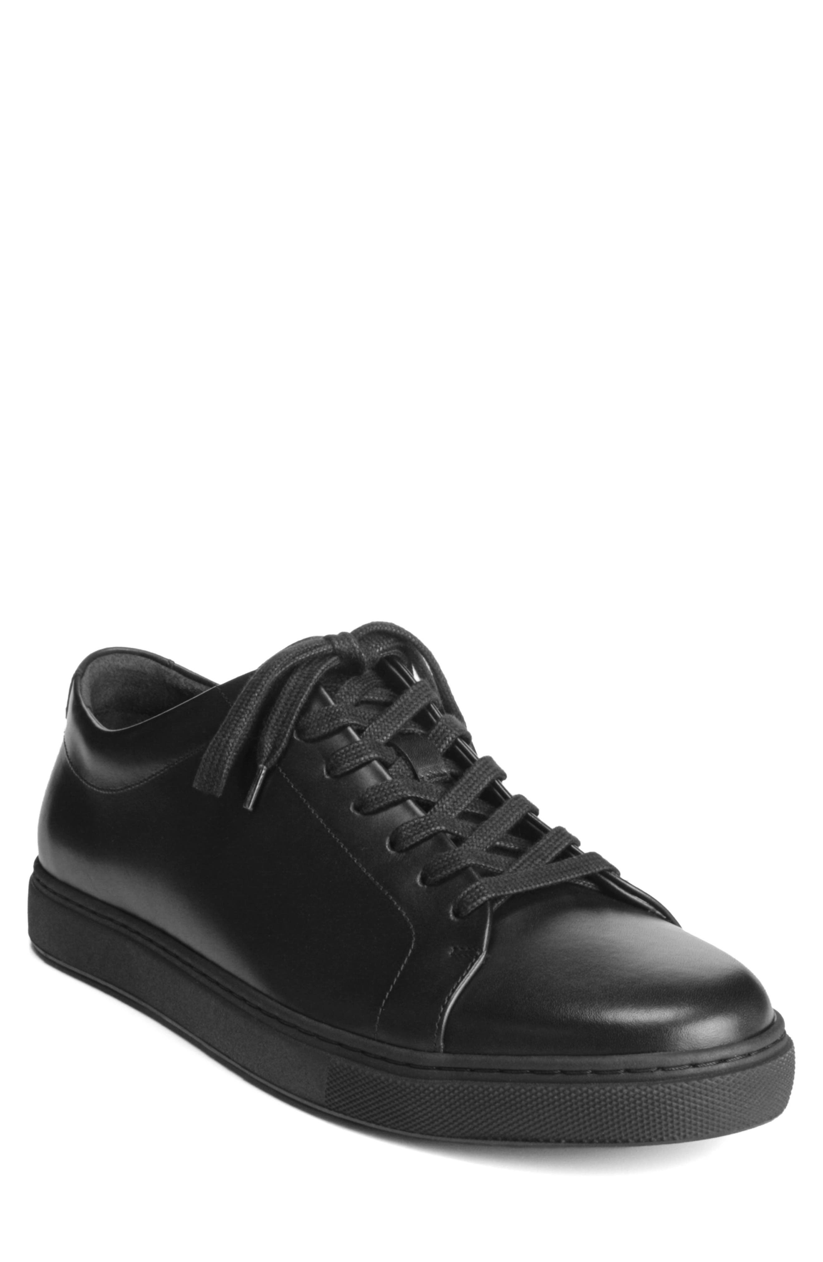 Canal Court Sneaker,                         Main,                         color, BLACK LEATHER