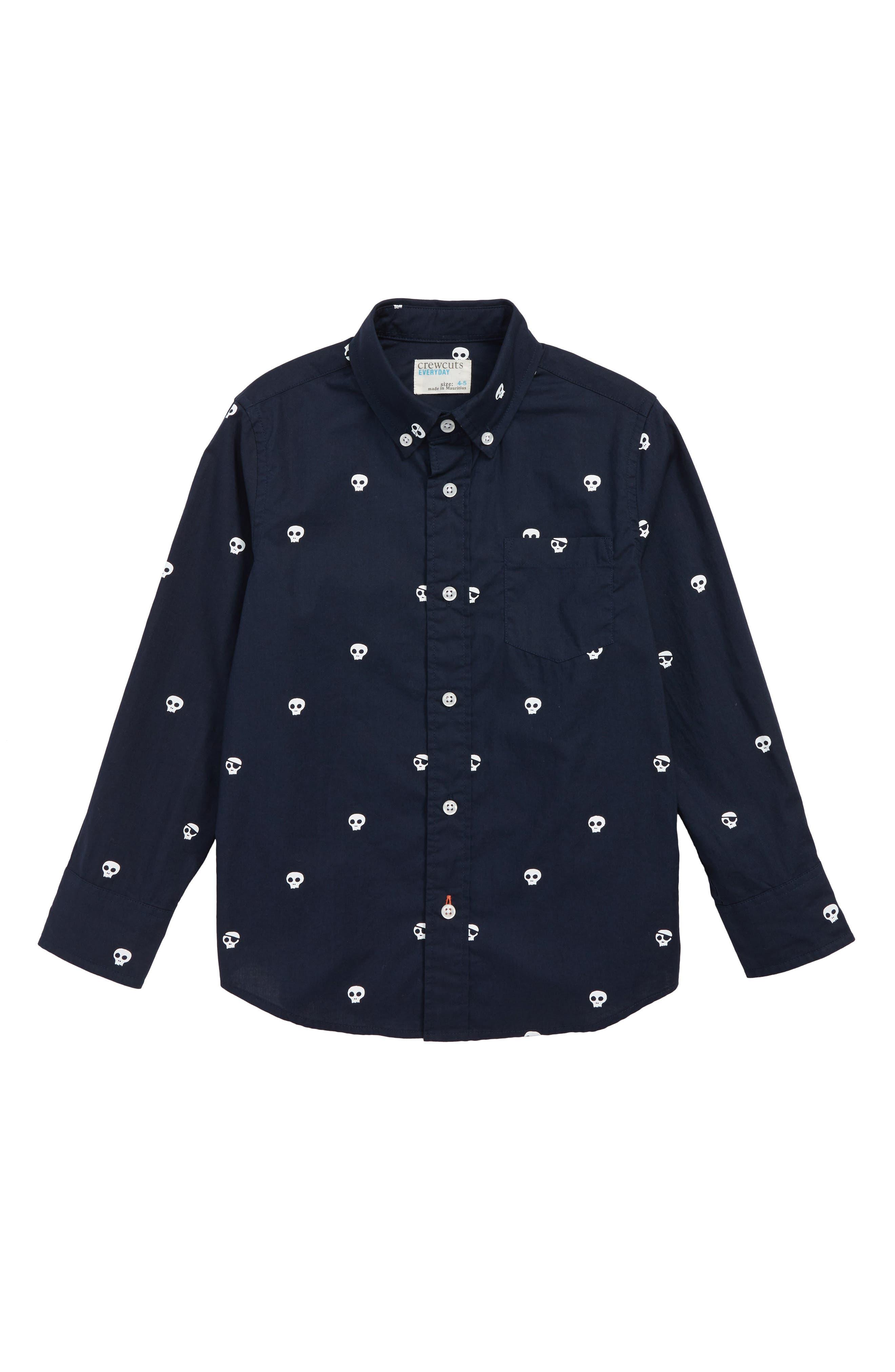 Skull Critter Button Down Shirt,                         Main,                         color, 400