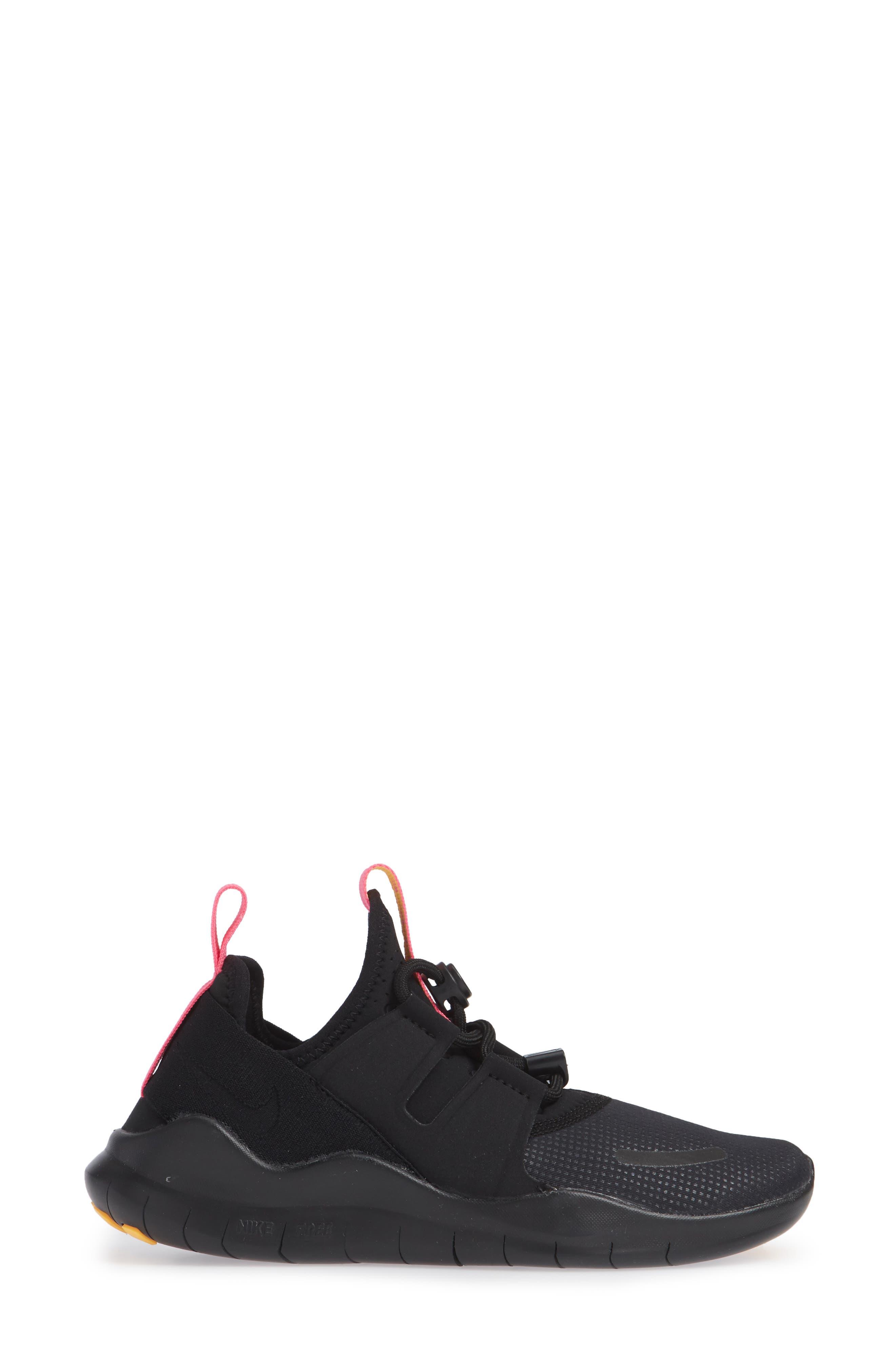 Free RN Commuter 2018 Running Shoe,                             Alternate thumbnail 3, color,                             BLACK/ PINK BLAST/ ORANGE