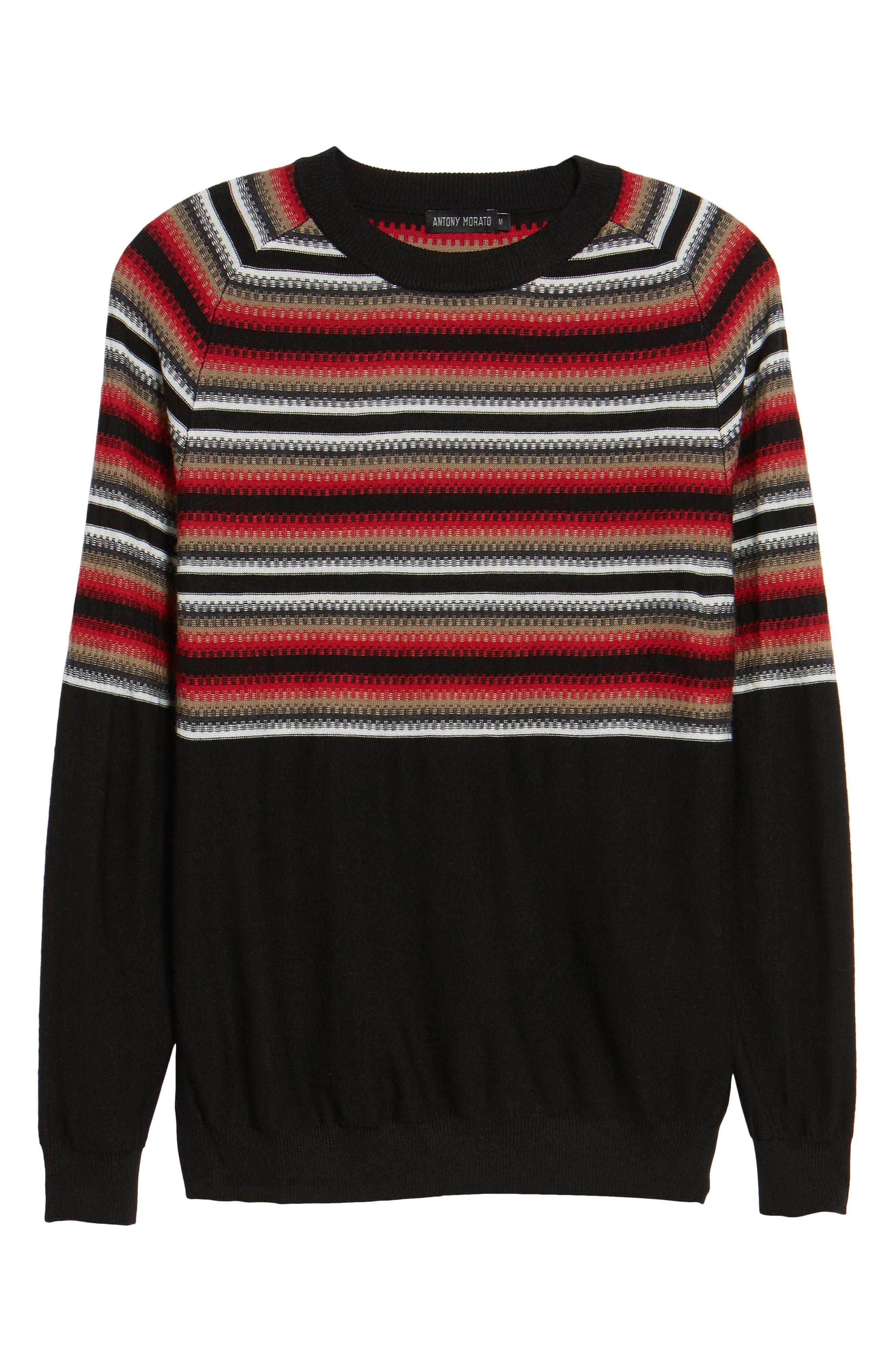 Stripe Sweater,                             Alternate thumbnail 6, color,                             001
