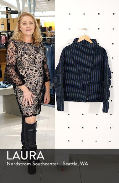Asymmetrical Stripe Puffer Jacket, sales video thumbnail