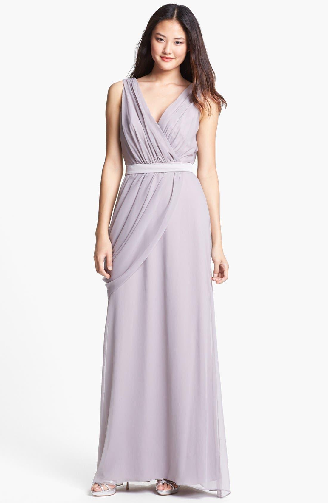 Draped Chiffon Dress,                             Main thumbnail 1, color,                             251