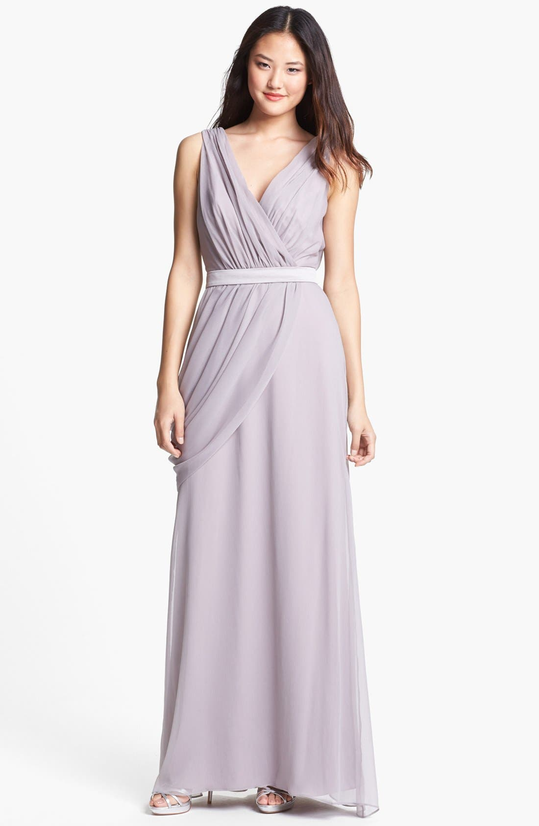 Draped Chiffon Dress, Main, color, 251
