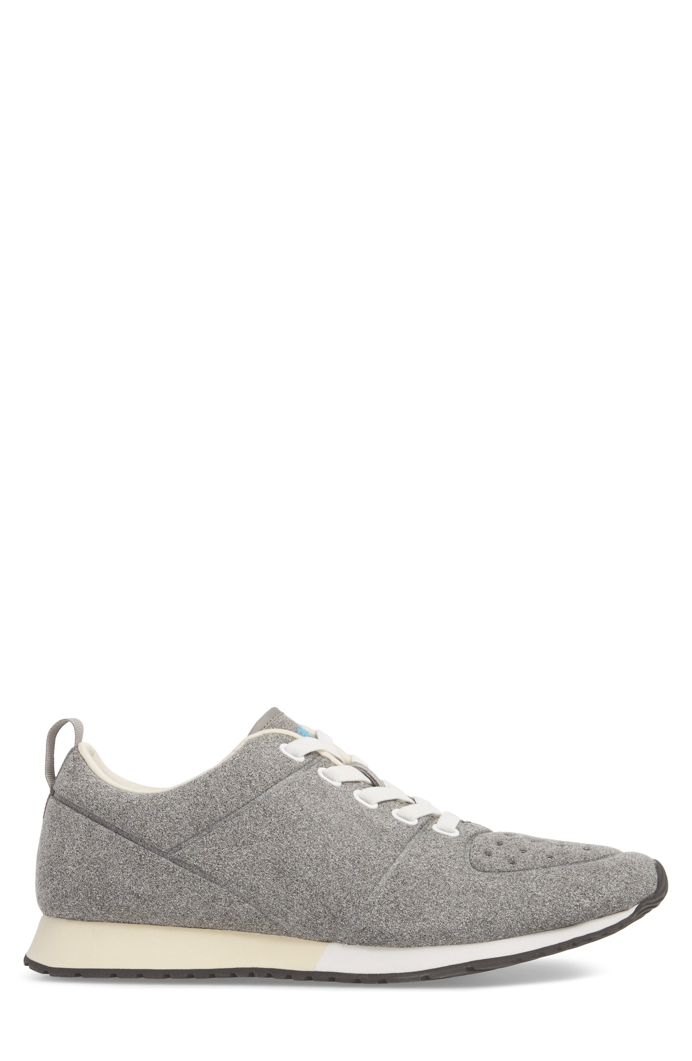 Cornell Perforated Sneaker,                             Alternate thumbnail 3, color,                             PIGEON GREY/ SHELL WHITE