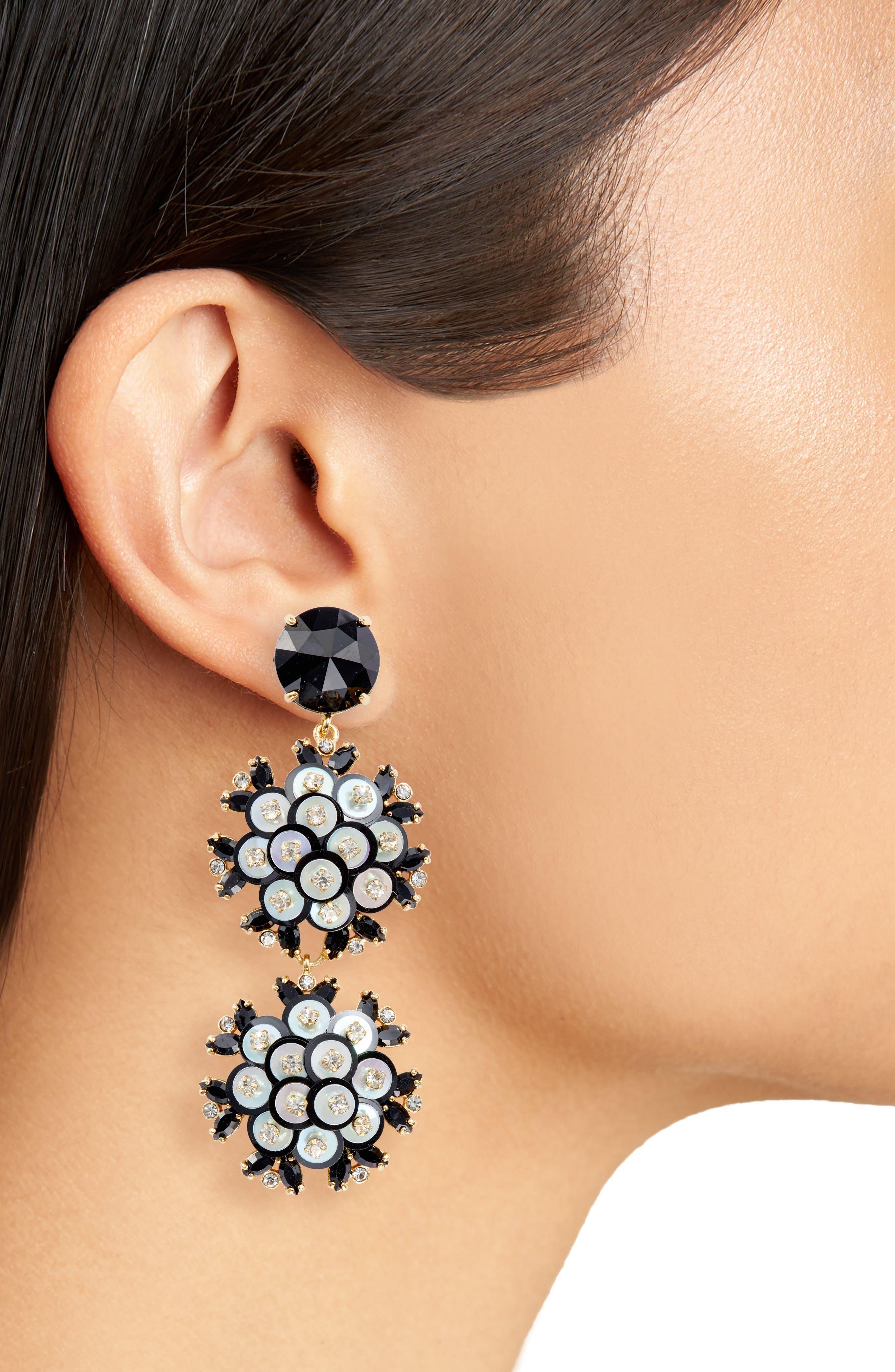 be bold triple drop earrings,                             Alternate thumbnail 3, color,