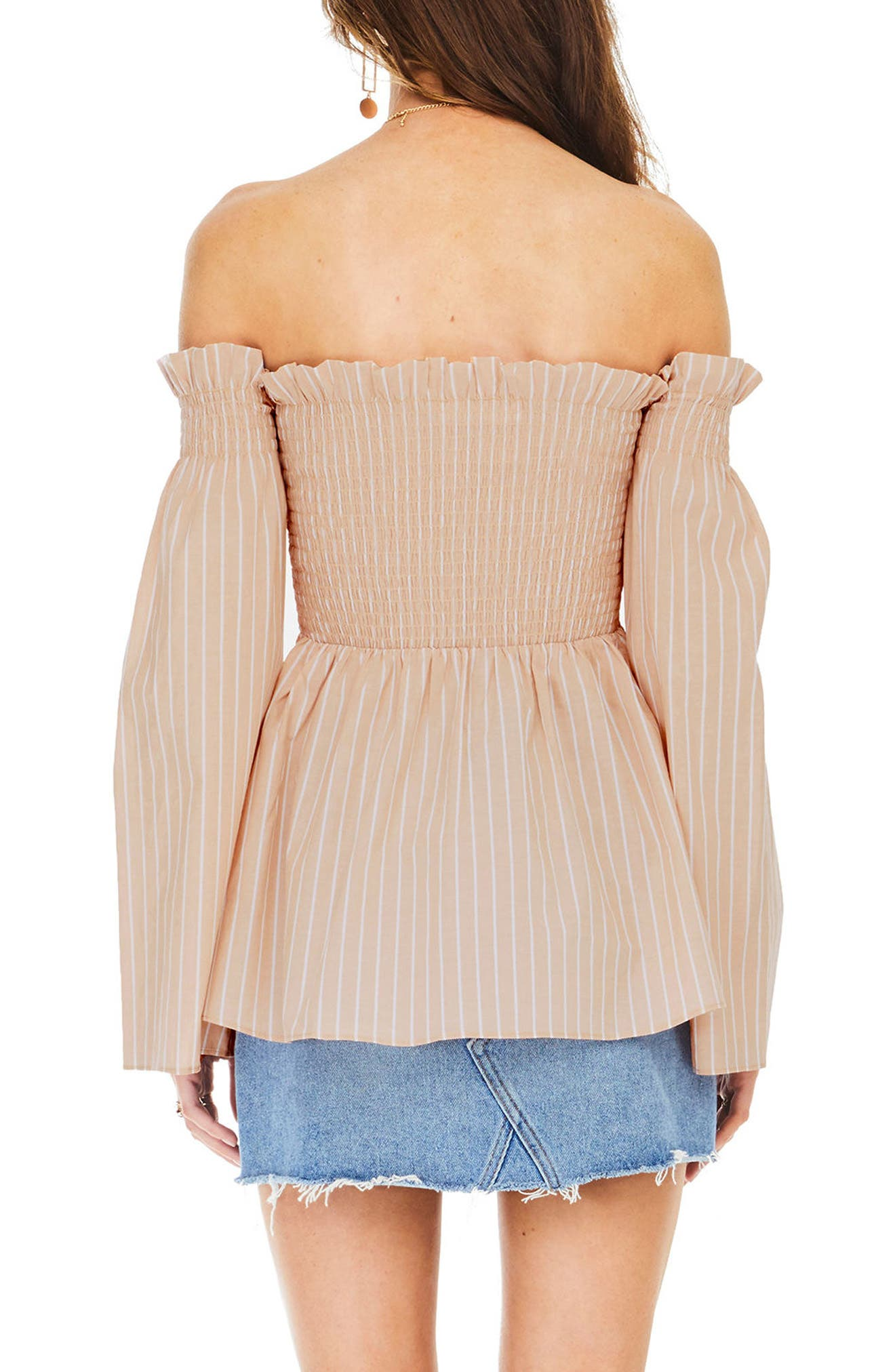 Shelby Off the Shoulder Top,                             Alternate thumbnail 6, color,