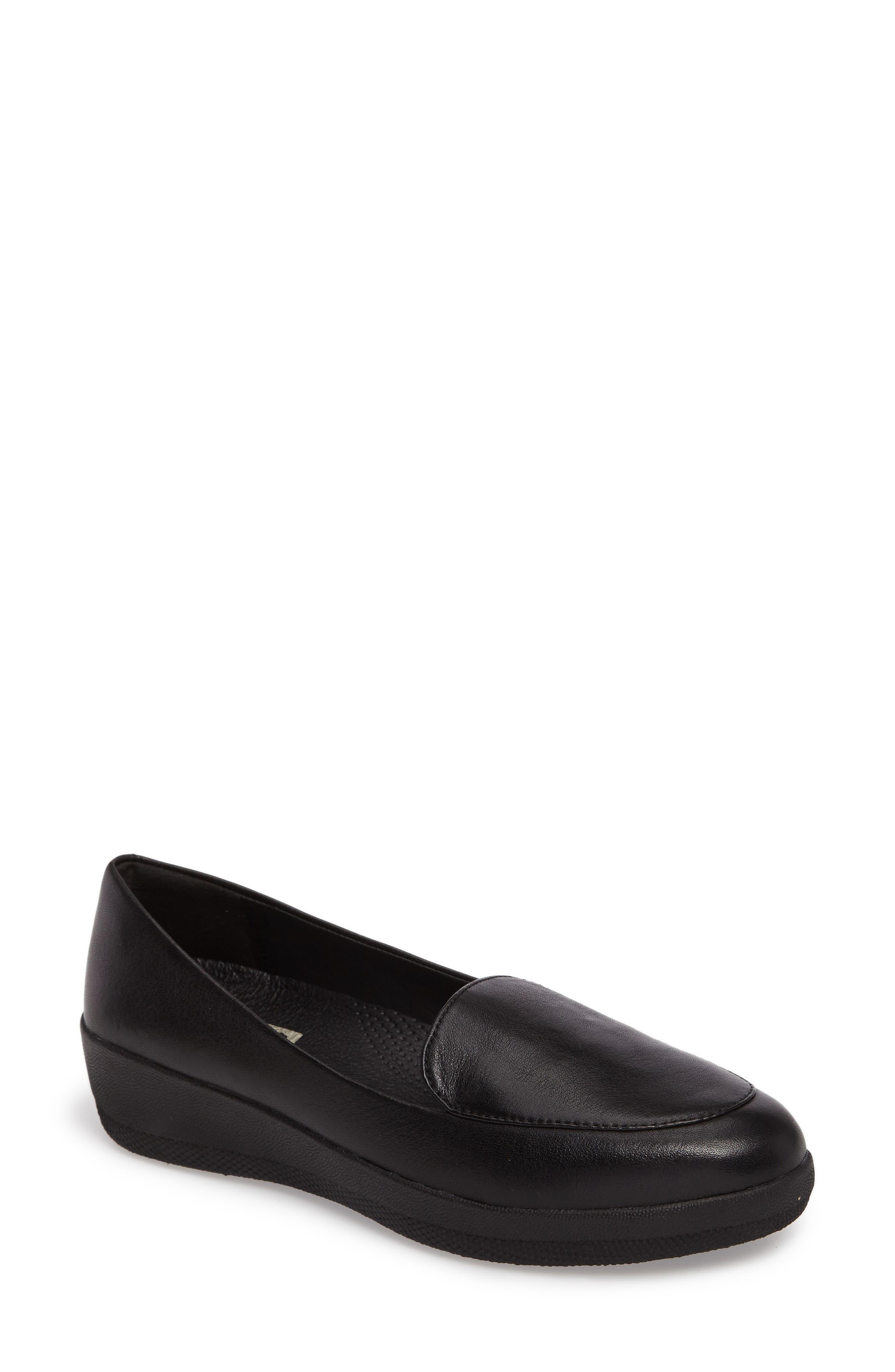 Sneaker Loafer Flat, Main, color, 001