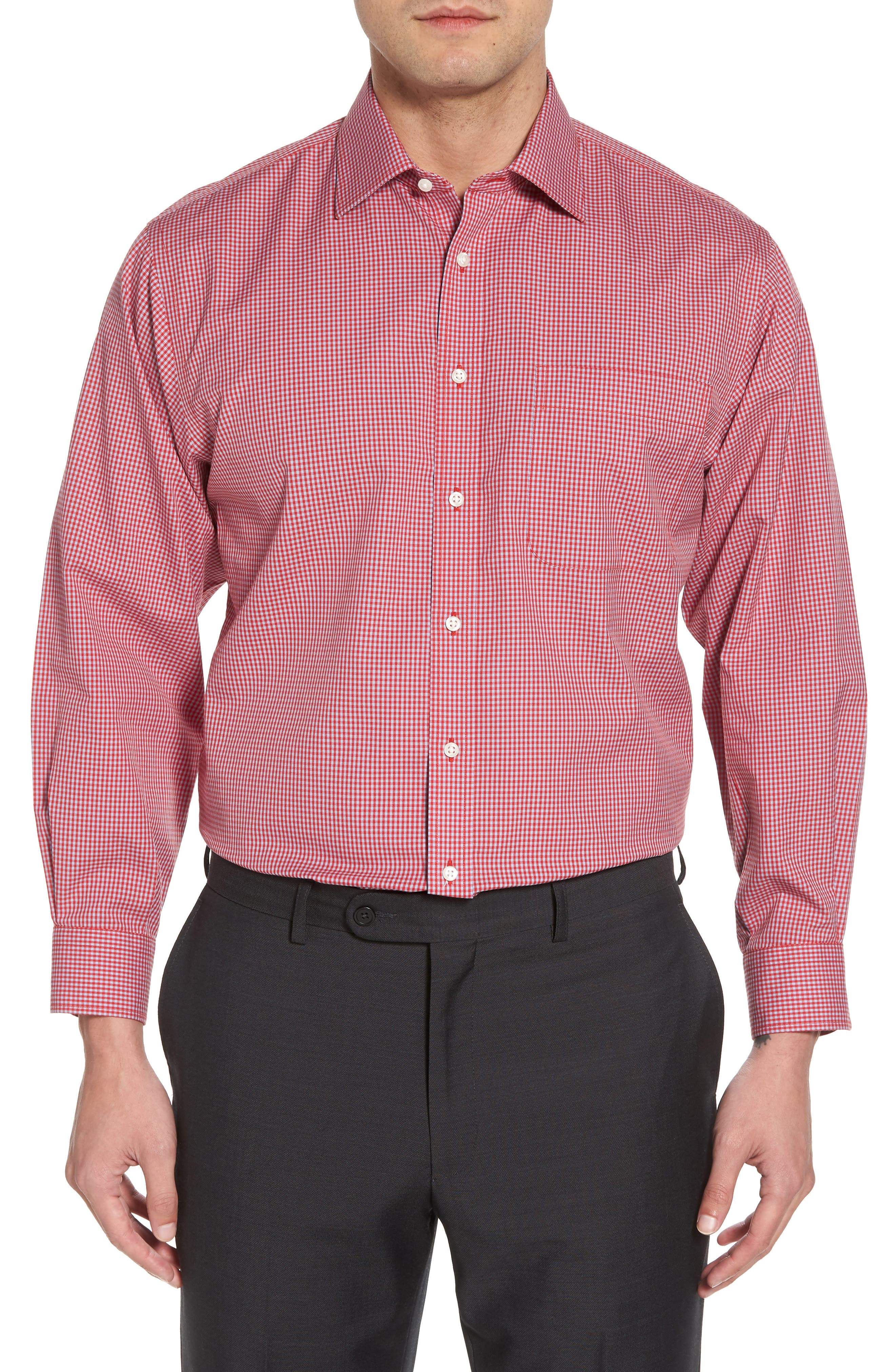 Smartcare Classic Fit Check Dress Shirt,                             Main thumbnail 4, color,