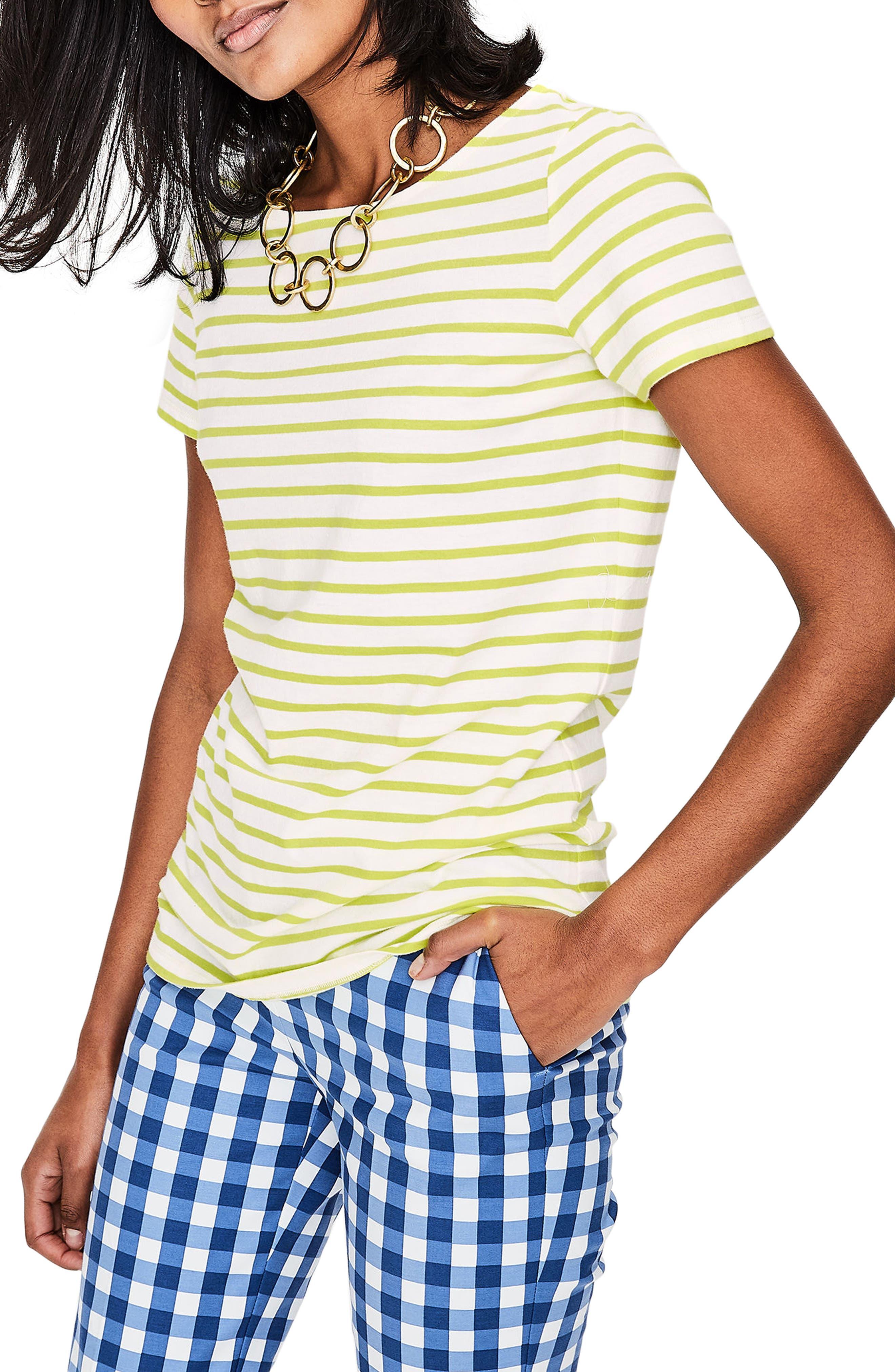 Breton Short Sleeve Stripe Cotton Top,                             Main thumbnail 4, color,