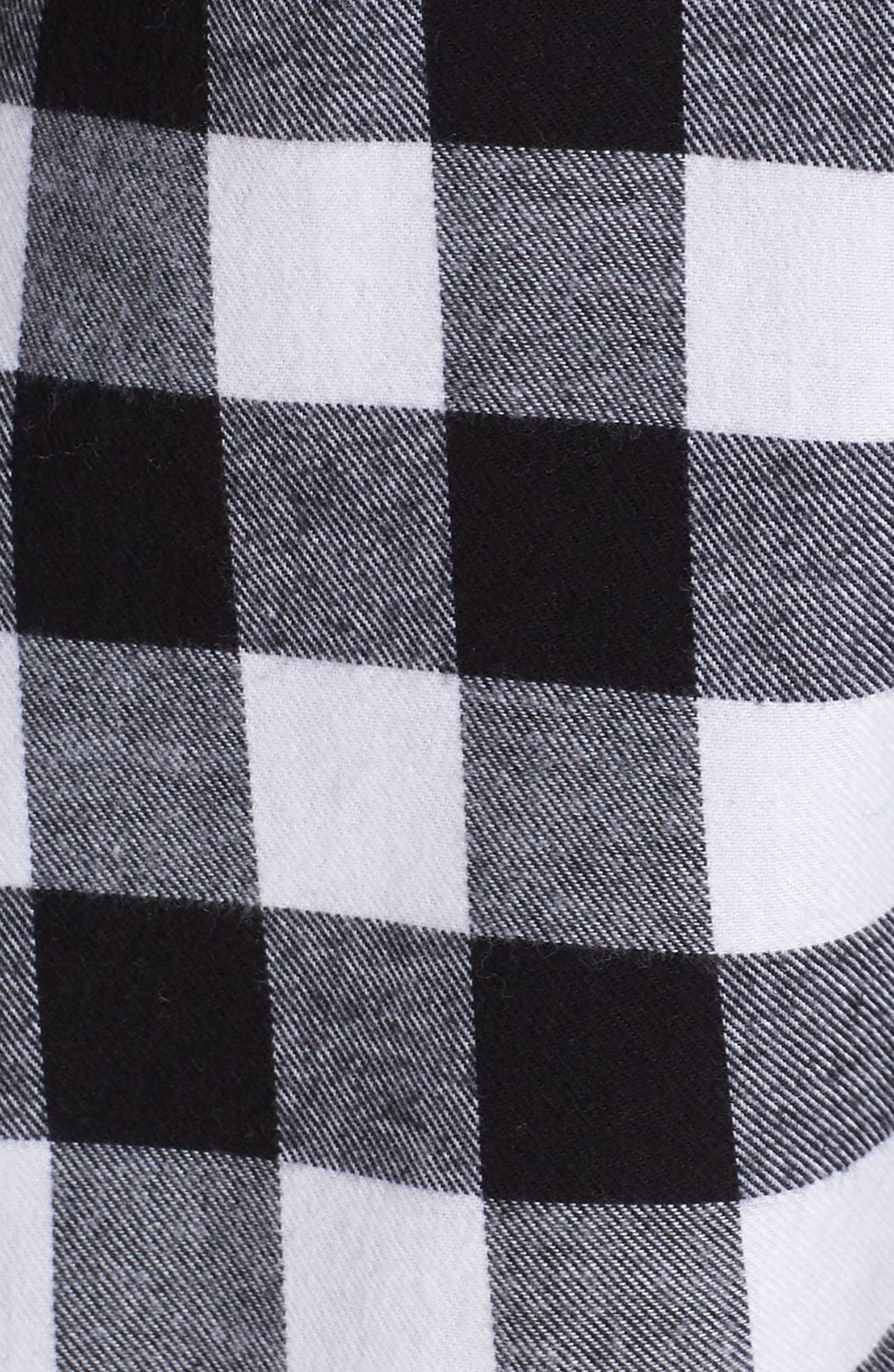 Flannel Nightshirt,                             Alternate thumbnail 5, color,                             002