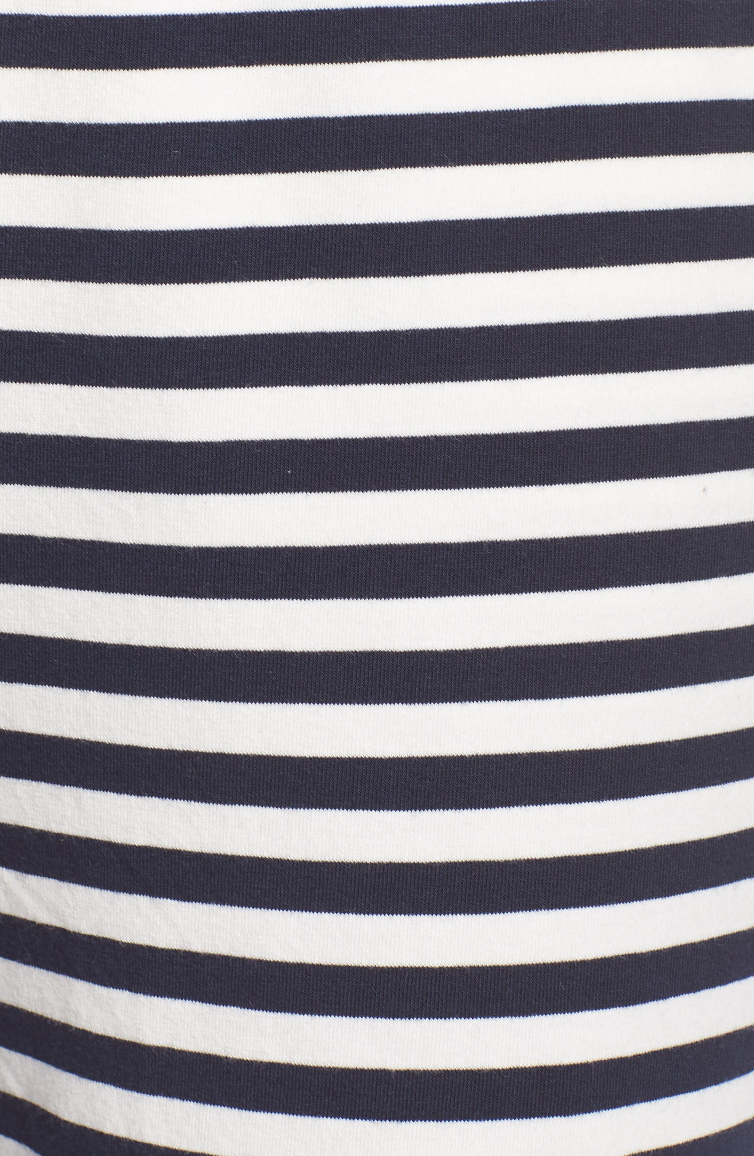 Dreamy Stripe Pajama Jogger Pants,                             Alternate thumbnail 5, color,                             IVORY NAVY