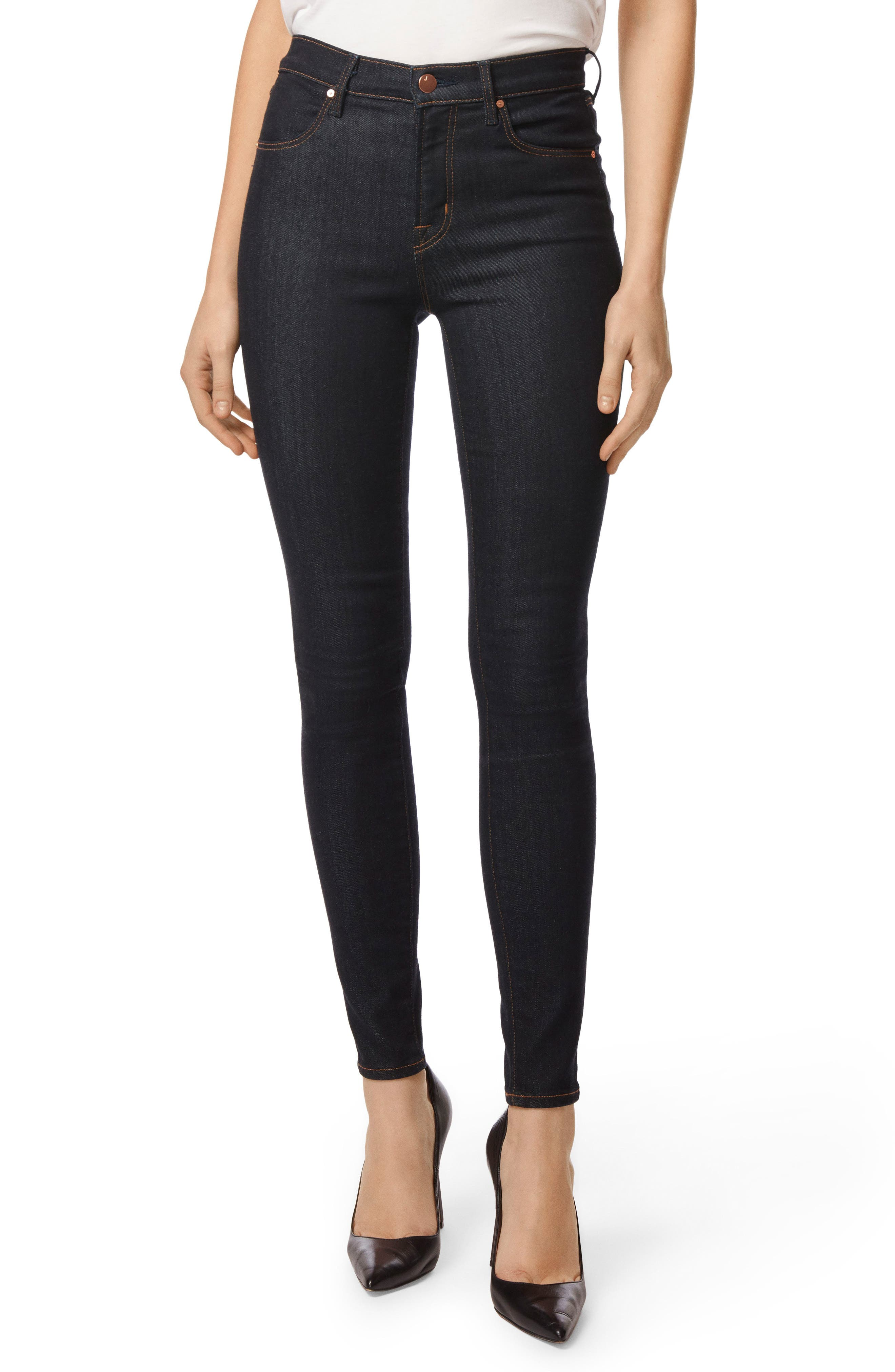 Maria High Waist Super Skinny Jeans,                             Main thumbnail 1, color,                             AFTER DARK