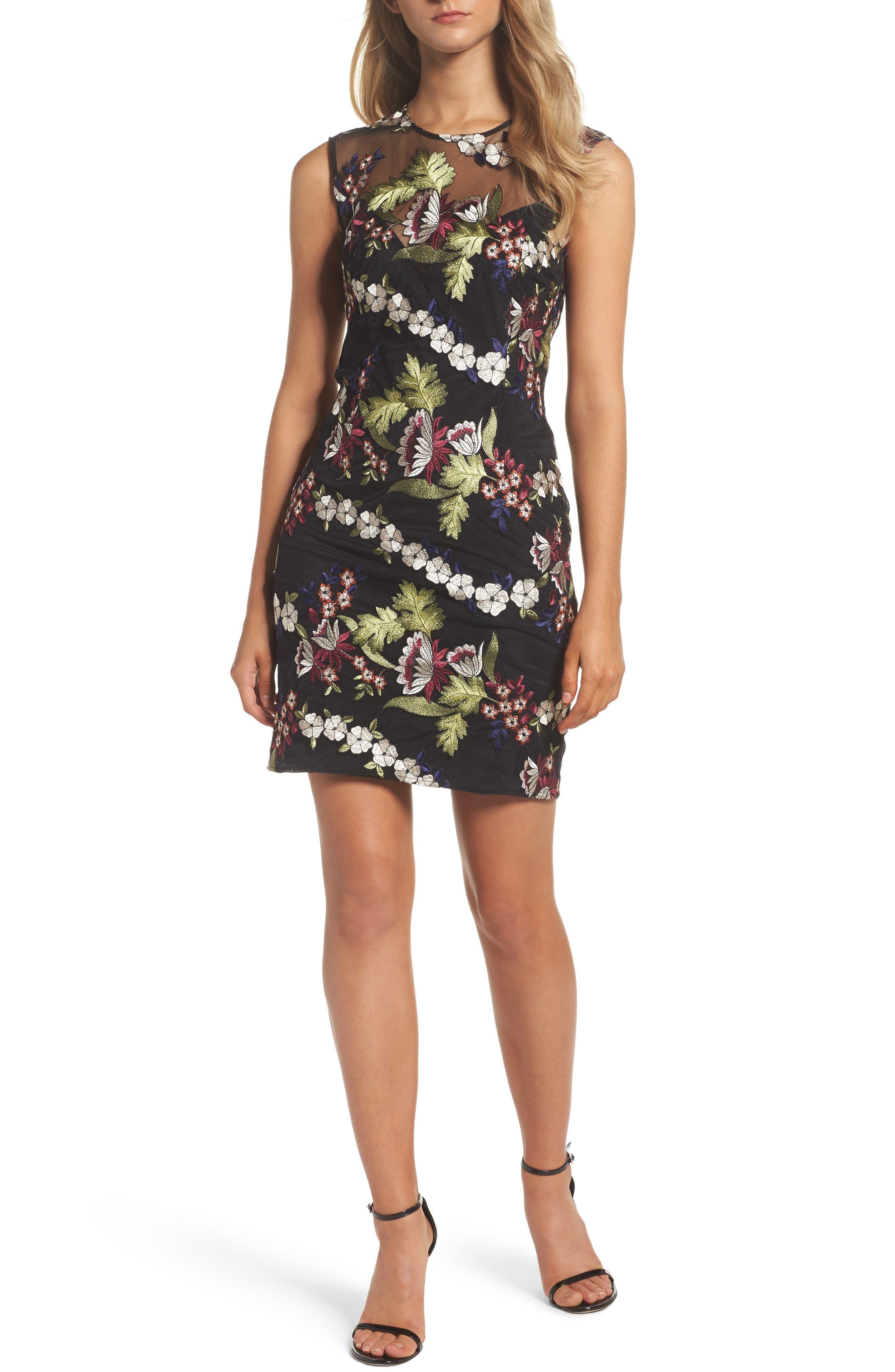 Jade Lace Dress,                             Main thumbnail 1, color,                             001