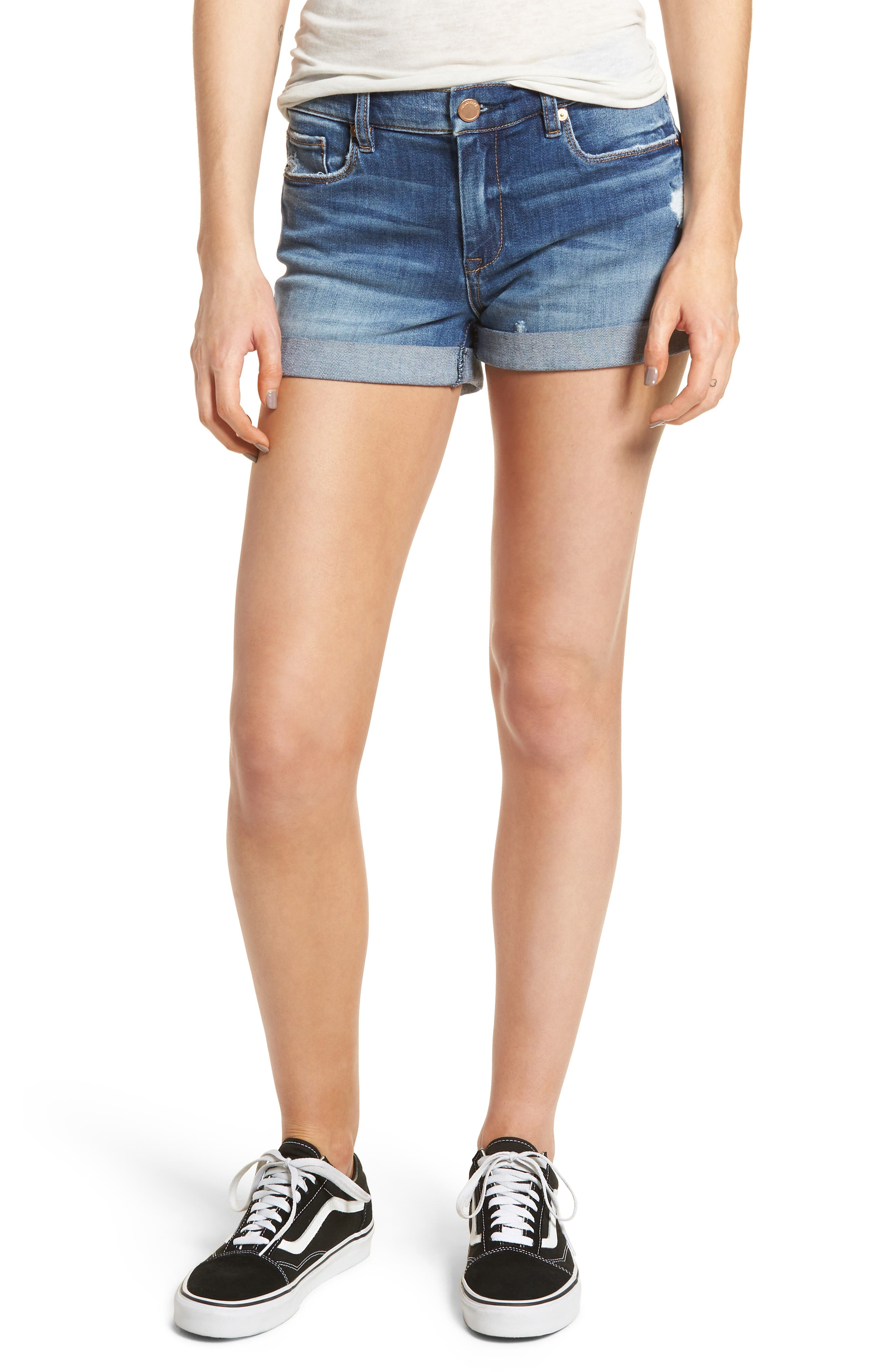 The Fulton Cuffed Denim Shorts,                         Main,                         color, 400