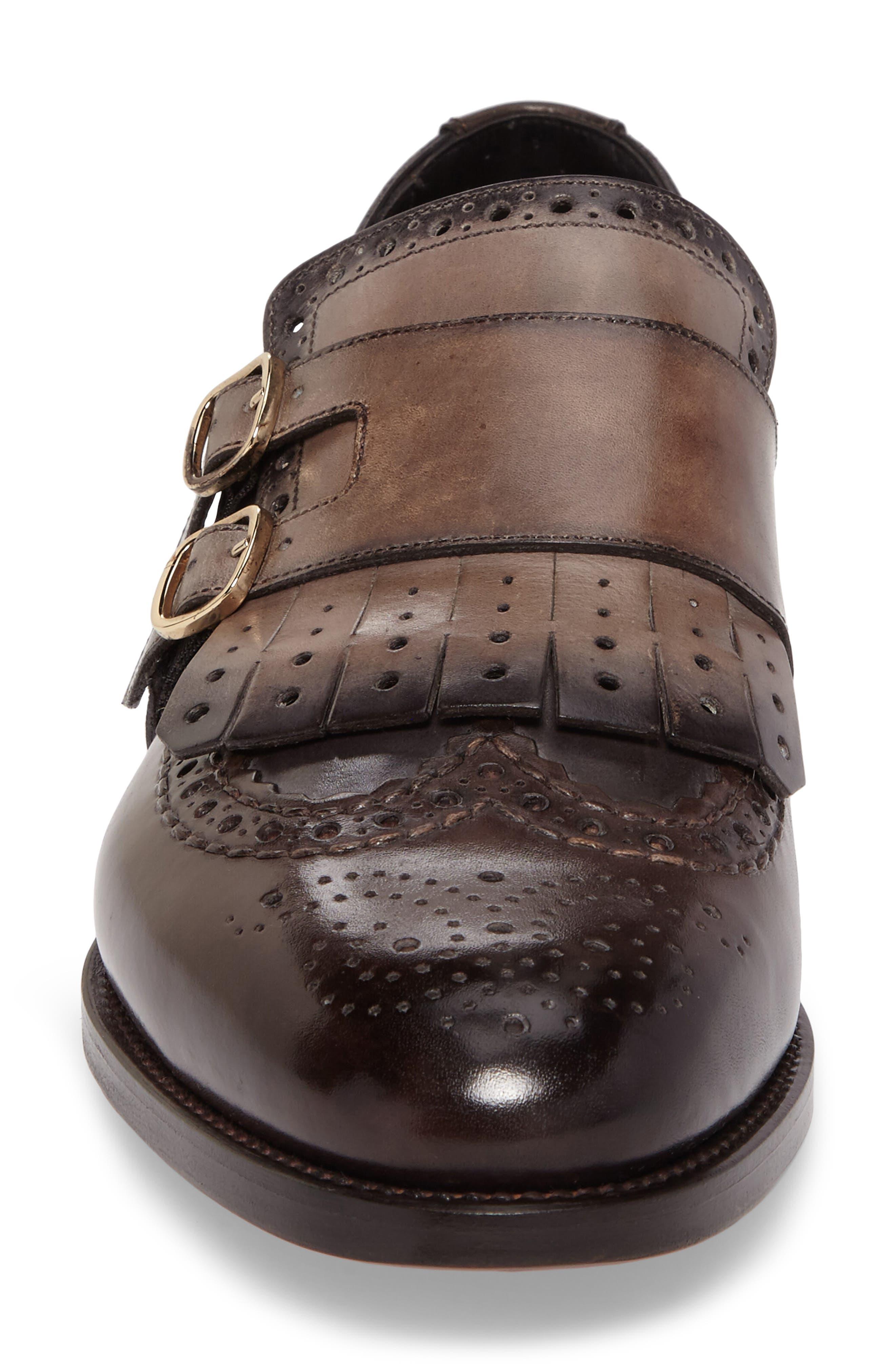 Goodwin Double Monk Strap Shoe,                             Alternate thumbnail 4, color,                             030