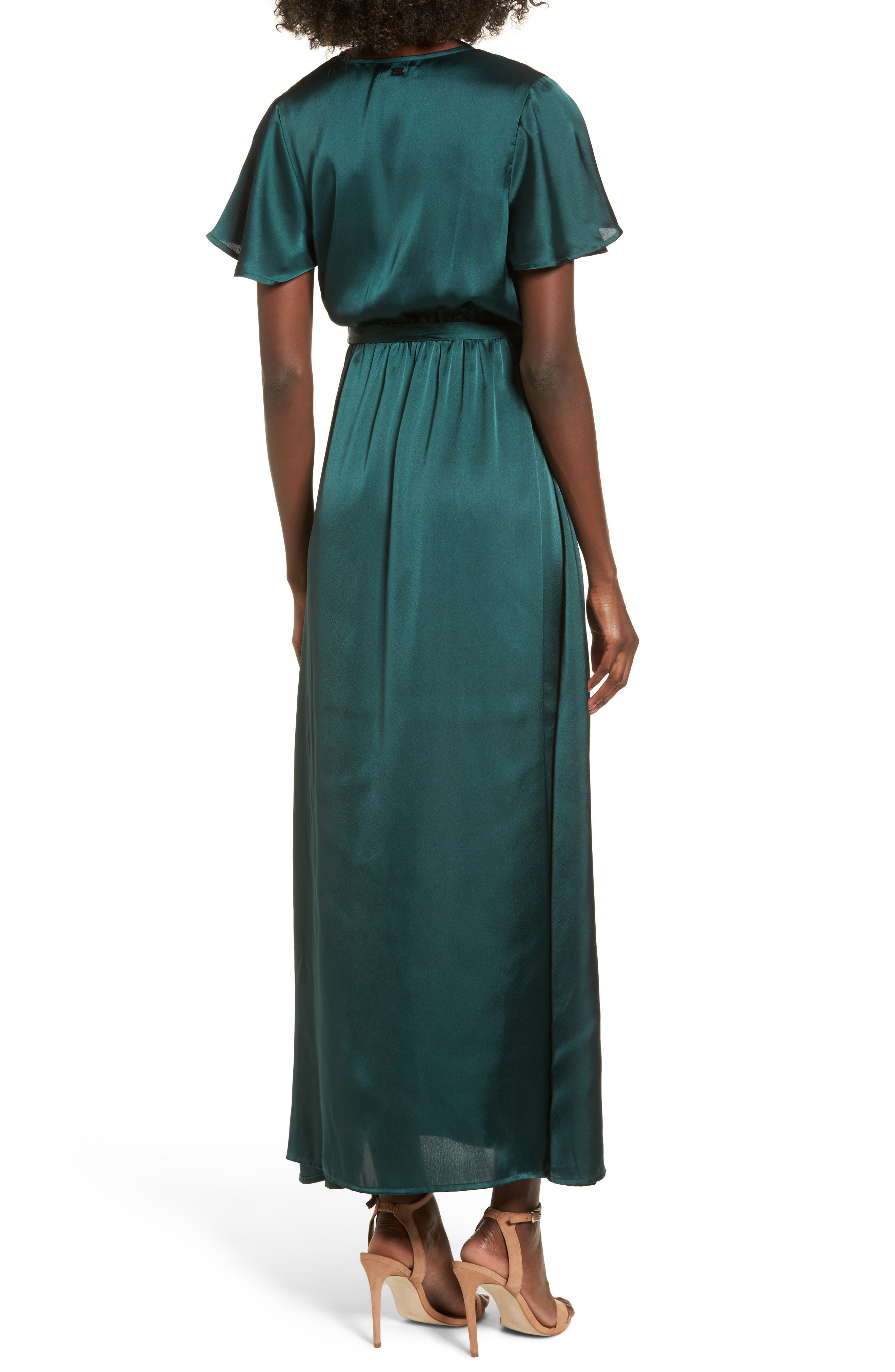 EZ Days Satin Wrap Maxi Dress,                             Alternate thumbnail 2, color,                             300