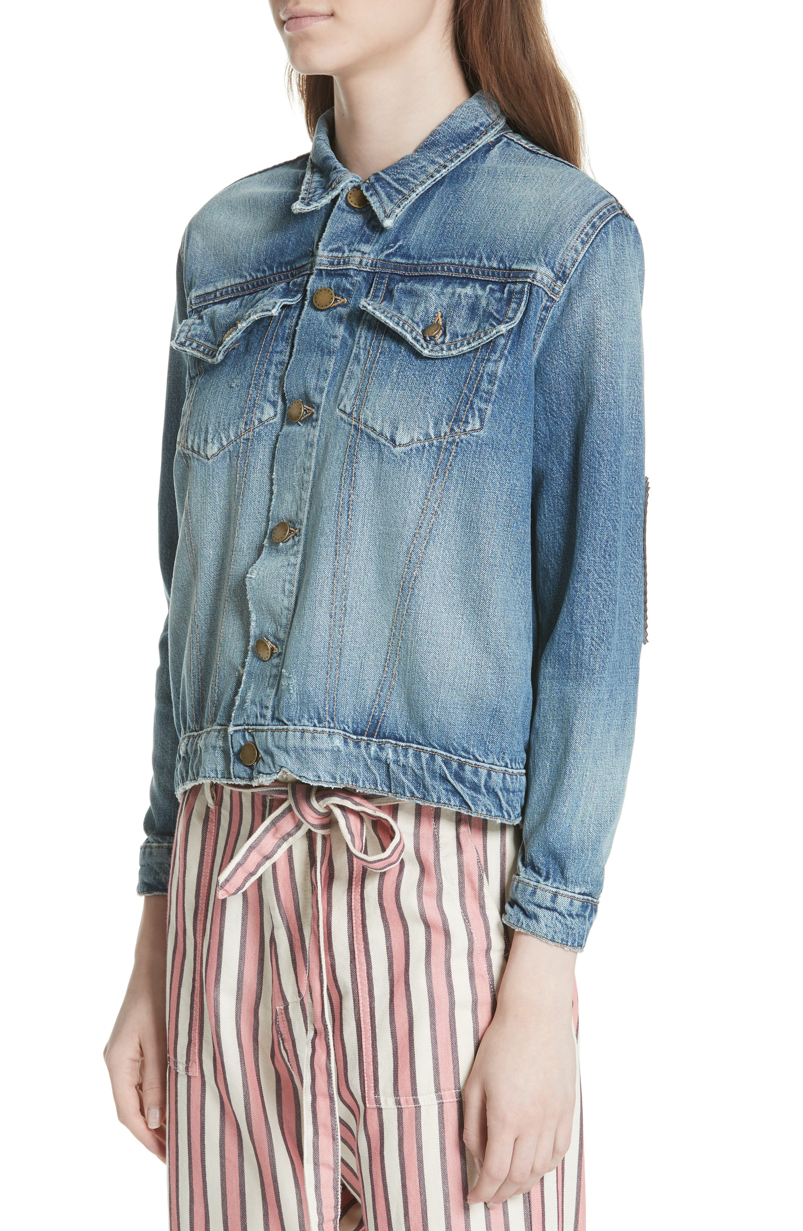 The Boxy Jean Jacket,                             Alternate thumbnail 4, color,                             435