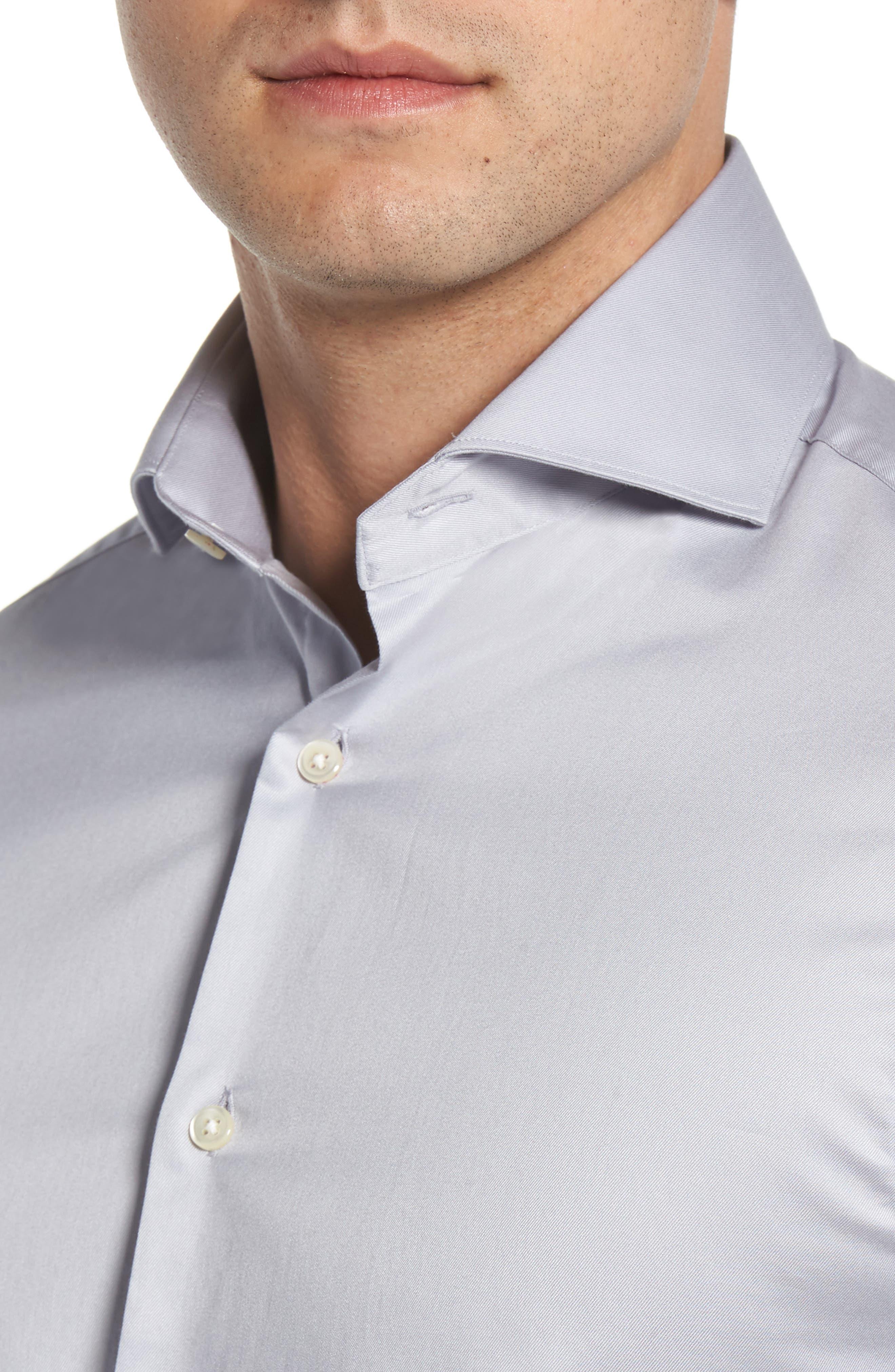 Regular Fit Solid Dress Shirt,                             Alternate thumbnail 2, color,                             020