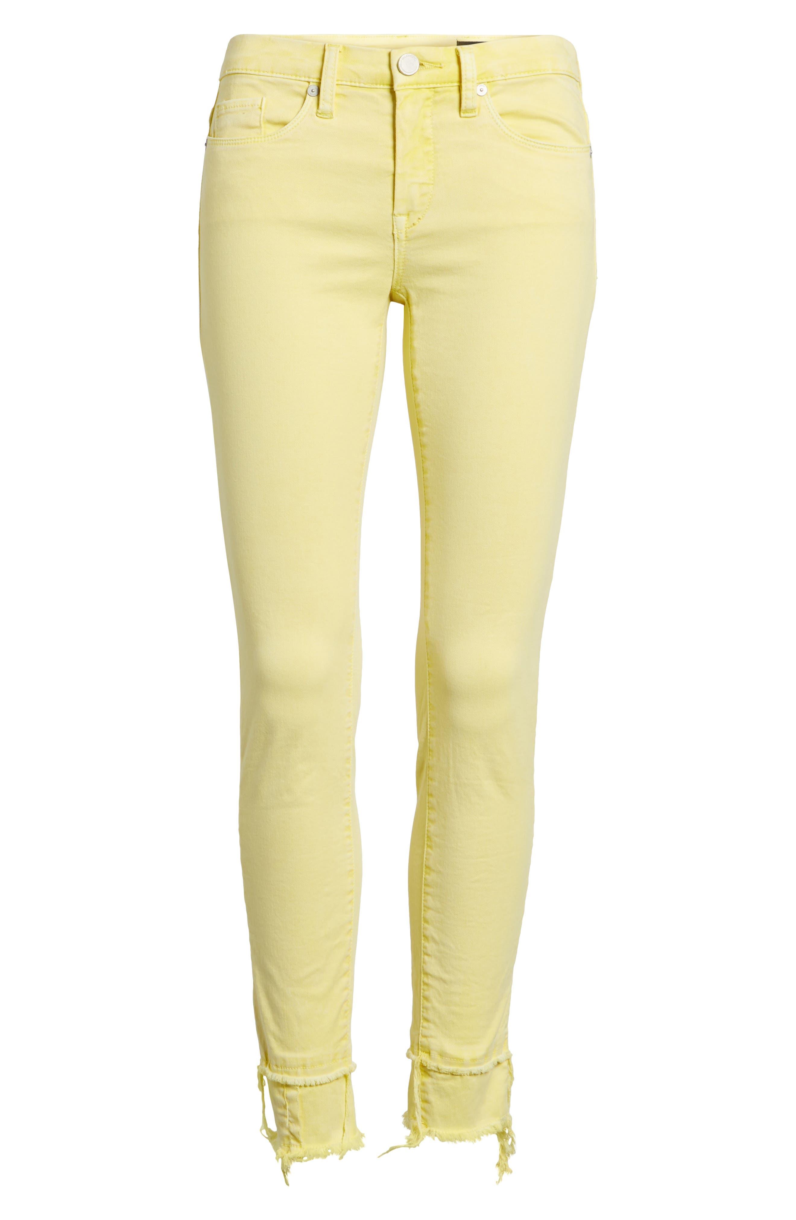 The Reade Classic Crop Raw Edge Double Hem Jeans,                             Alternate thumbnail 7, color,