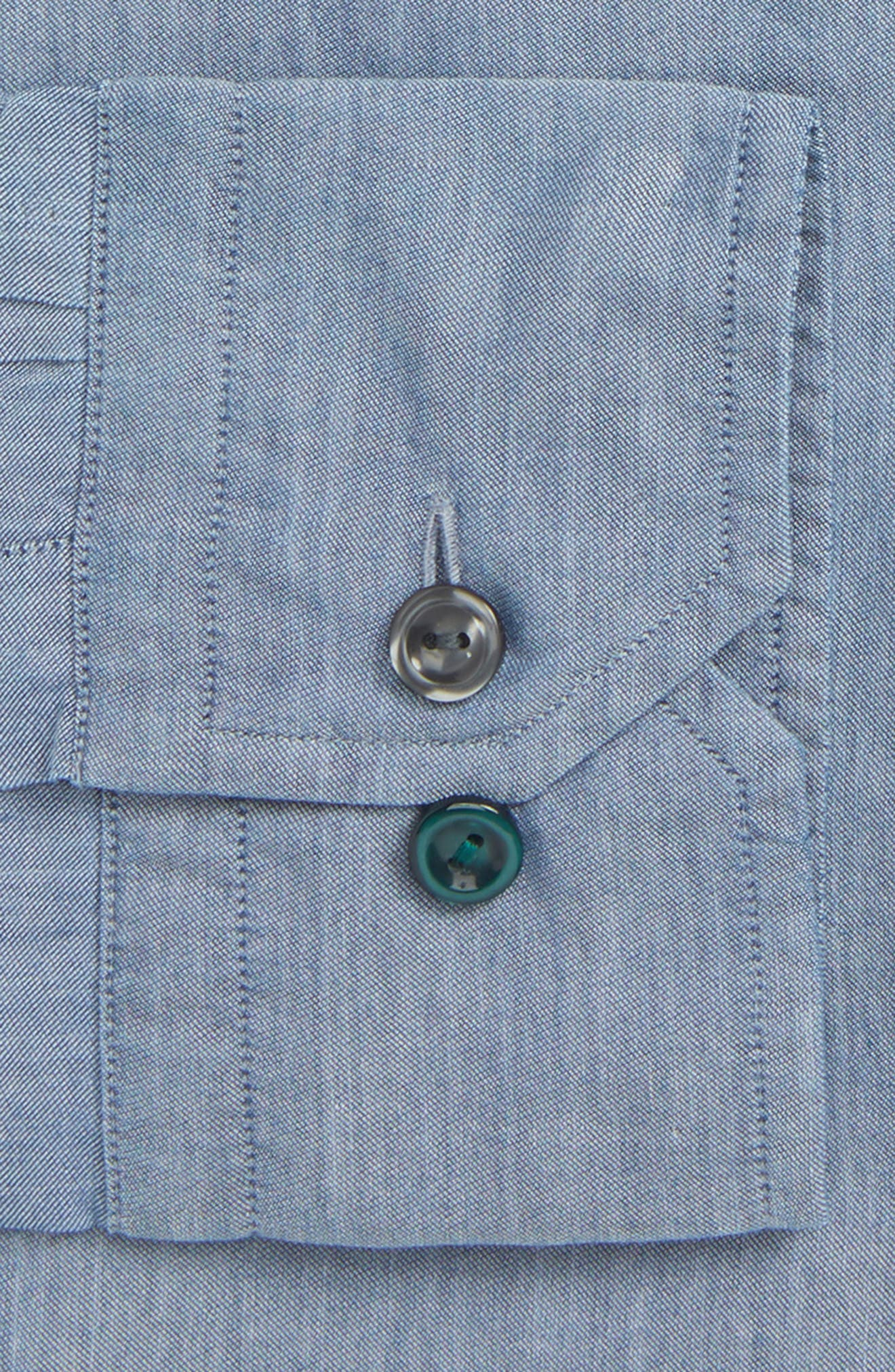 Contemporary Fit Chambray Dress Shirt,                             Alternate thumbnail 2, color,                             400