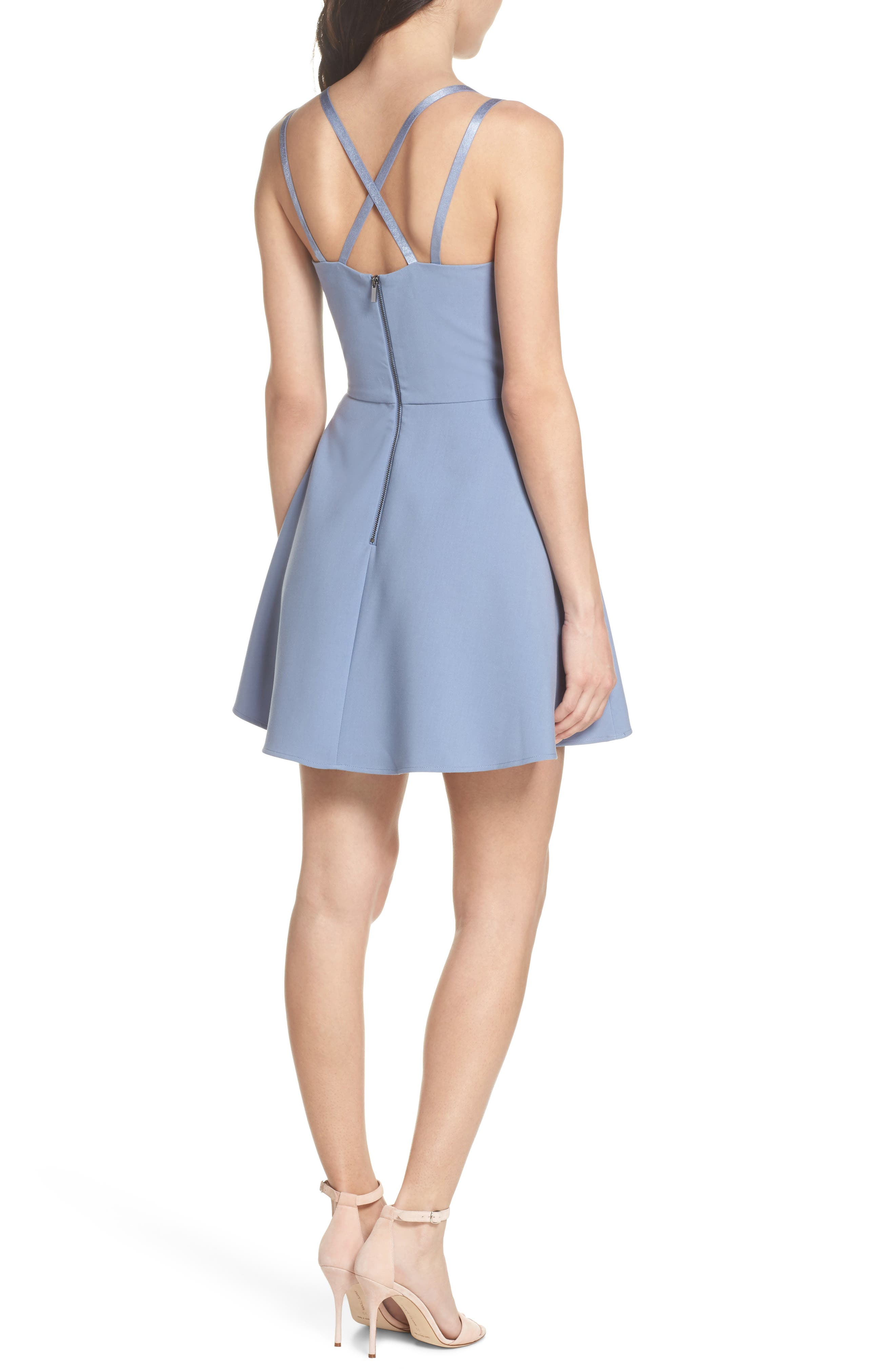 Whisper Light Fit & Flare Dress,                             Alternate thumbnail 2, color,                             400