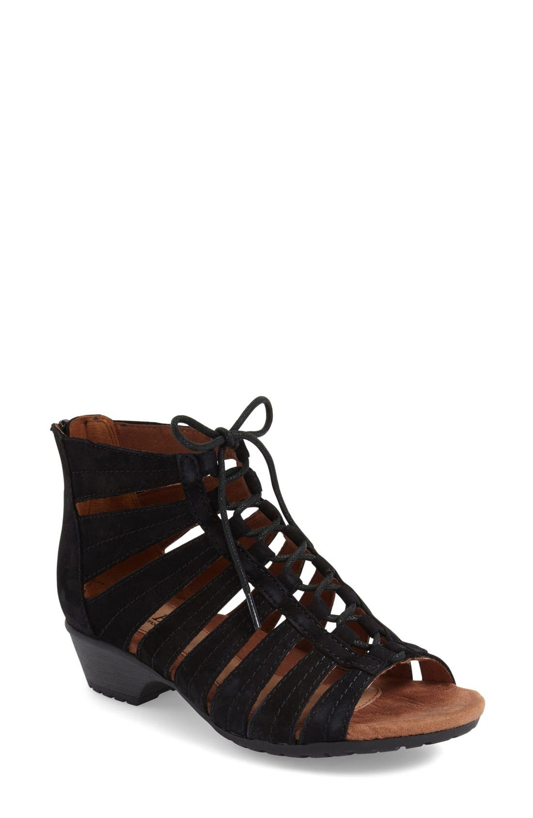 'Gabby' Lace-Up Sandal,                             Main thumbnail 3, color,