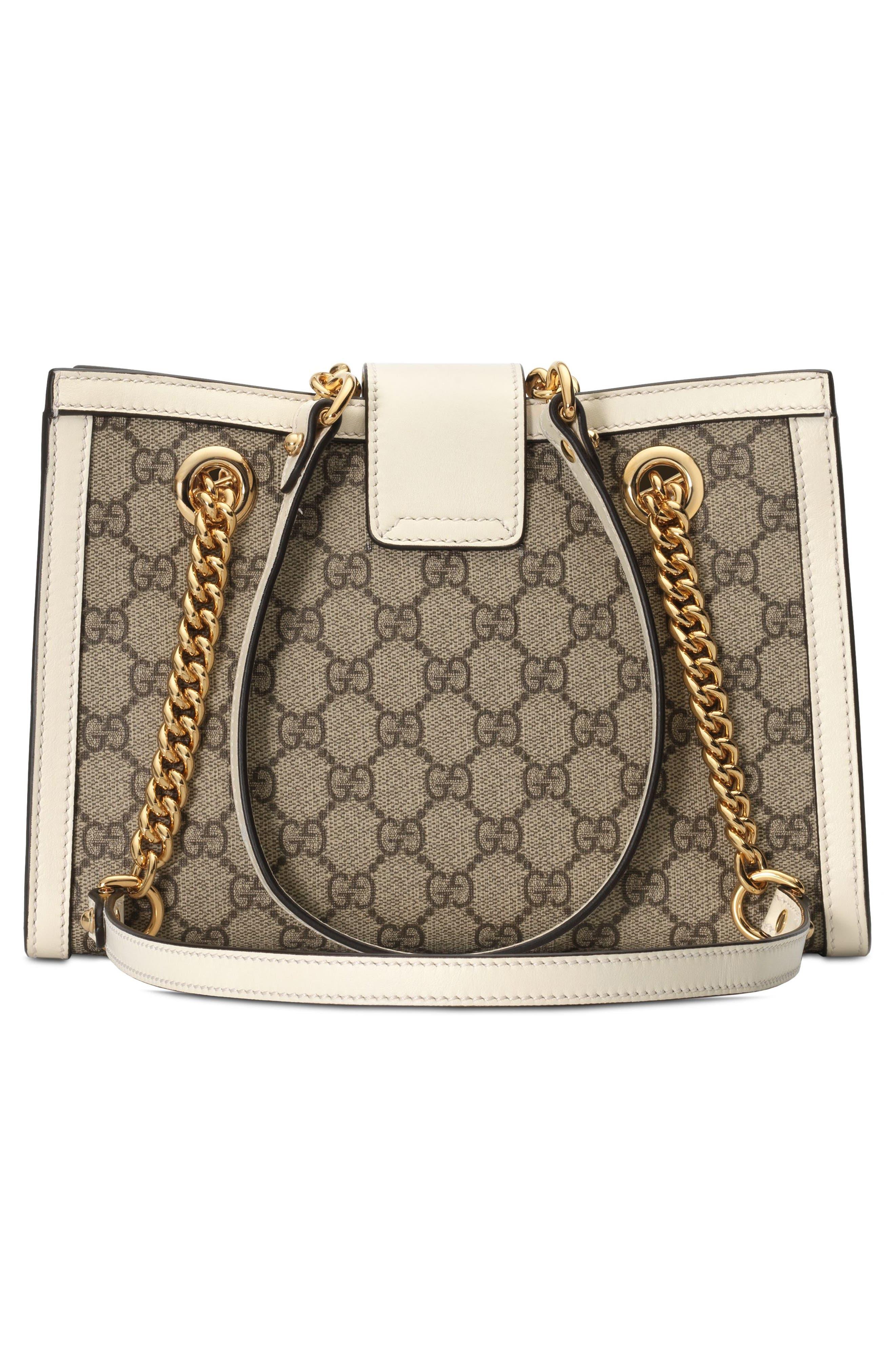 Small Padlock GG Supreme Shoulder Bag,                             Alternate thumbnail 2, color,                             BEIGE EBONY/ MYSTIC WHITE