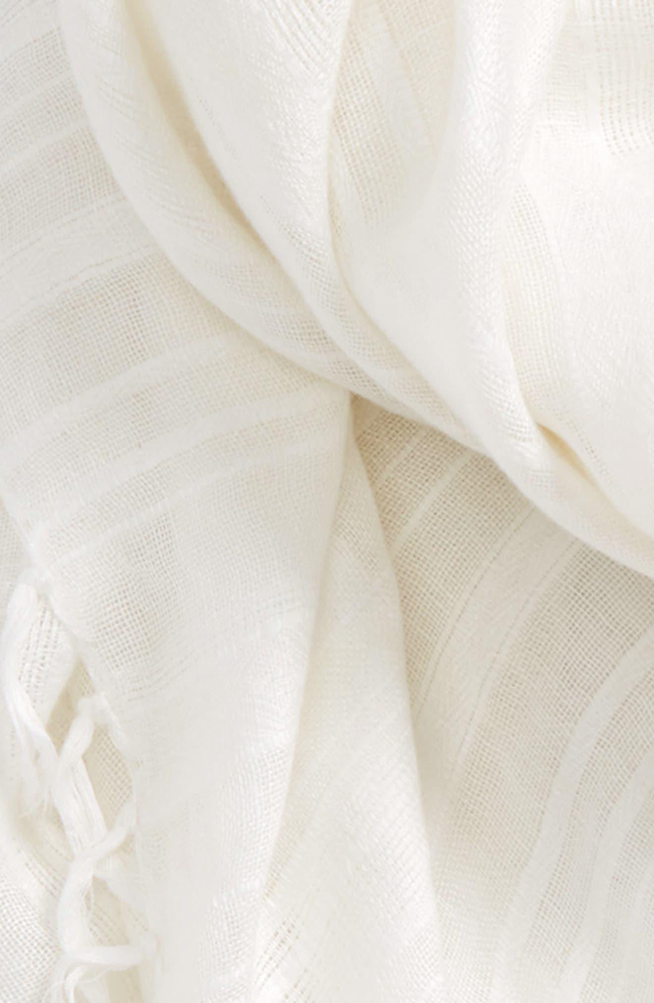 Solid Linen Blend Scarf,                             Alternate thumbnail 16, color,