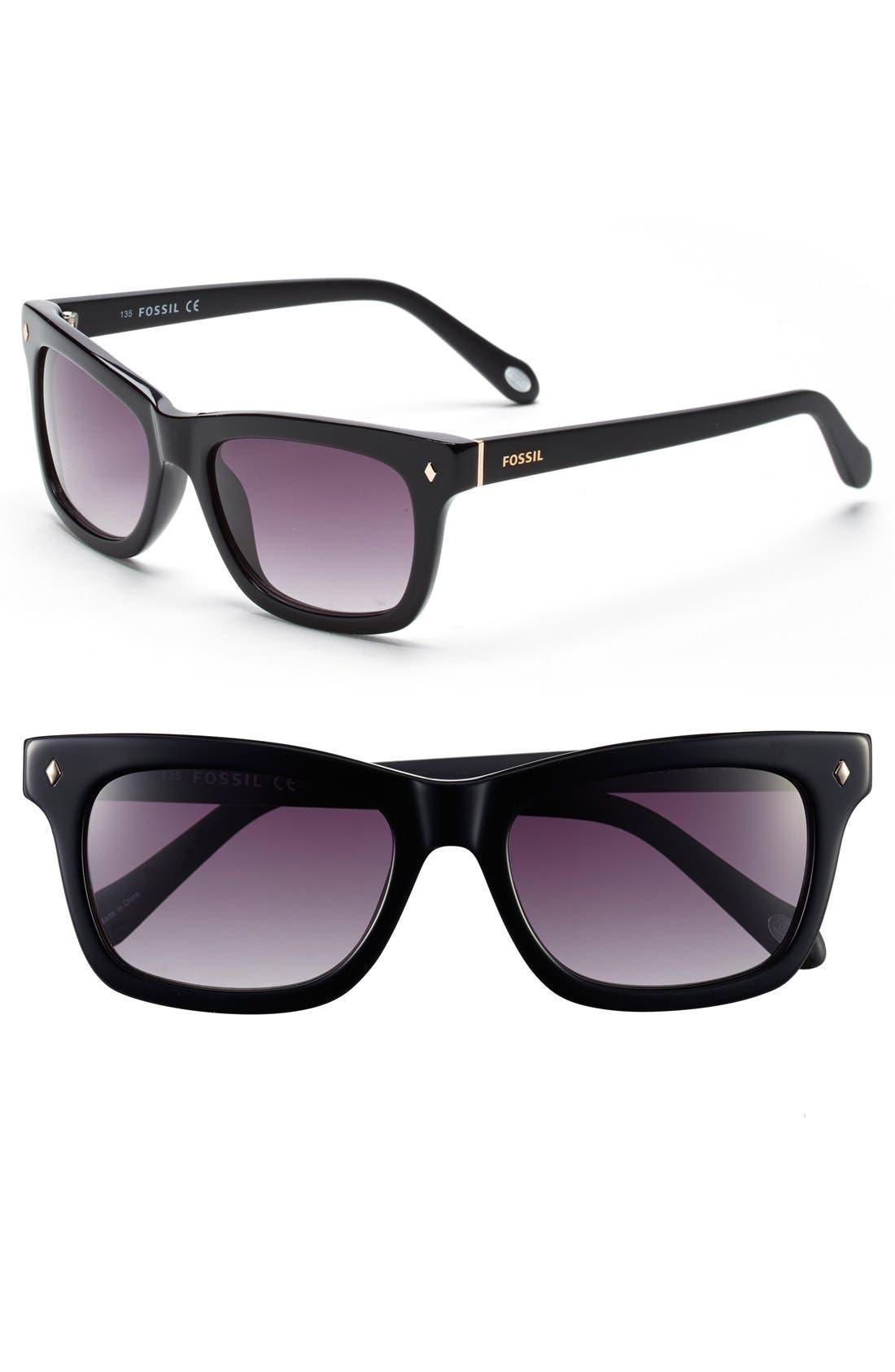 'Brynn' 52mm Retro Sunglasses, Main, color, 001