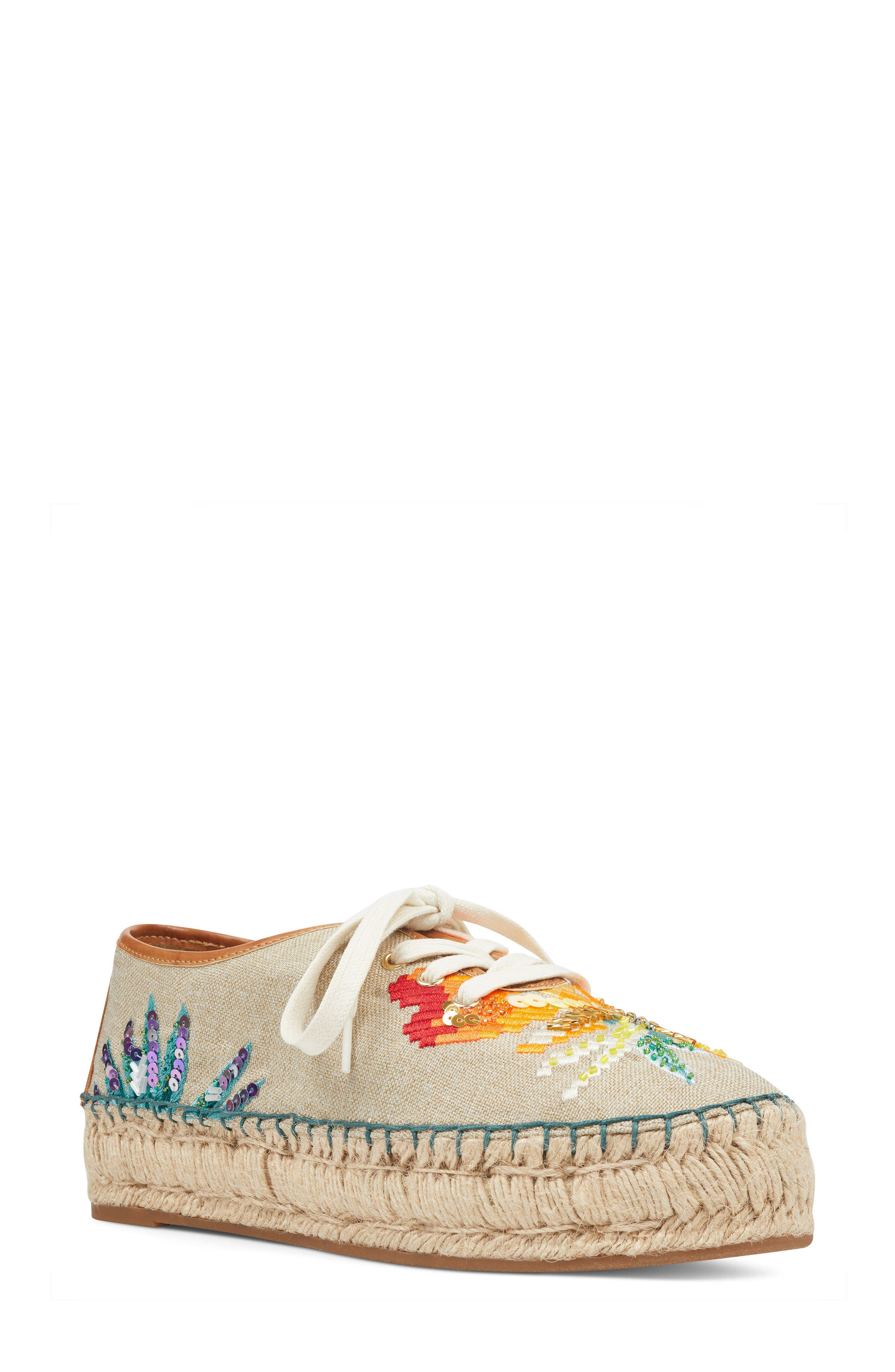 Guinup Embellished Espadrille Sneaker,                             Main thumbnail 1, color,                             250