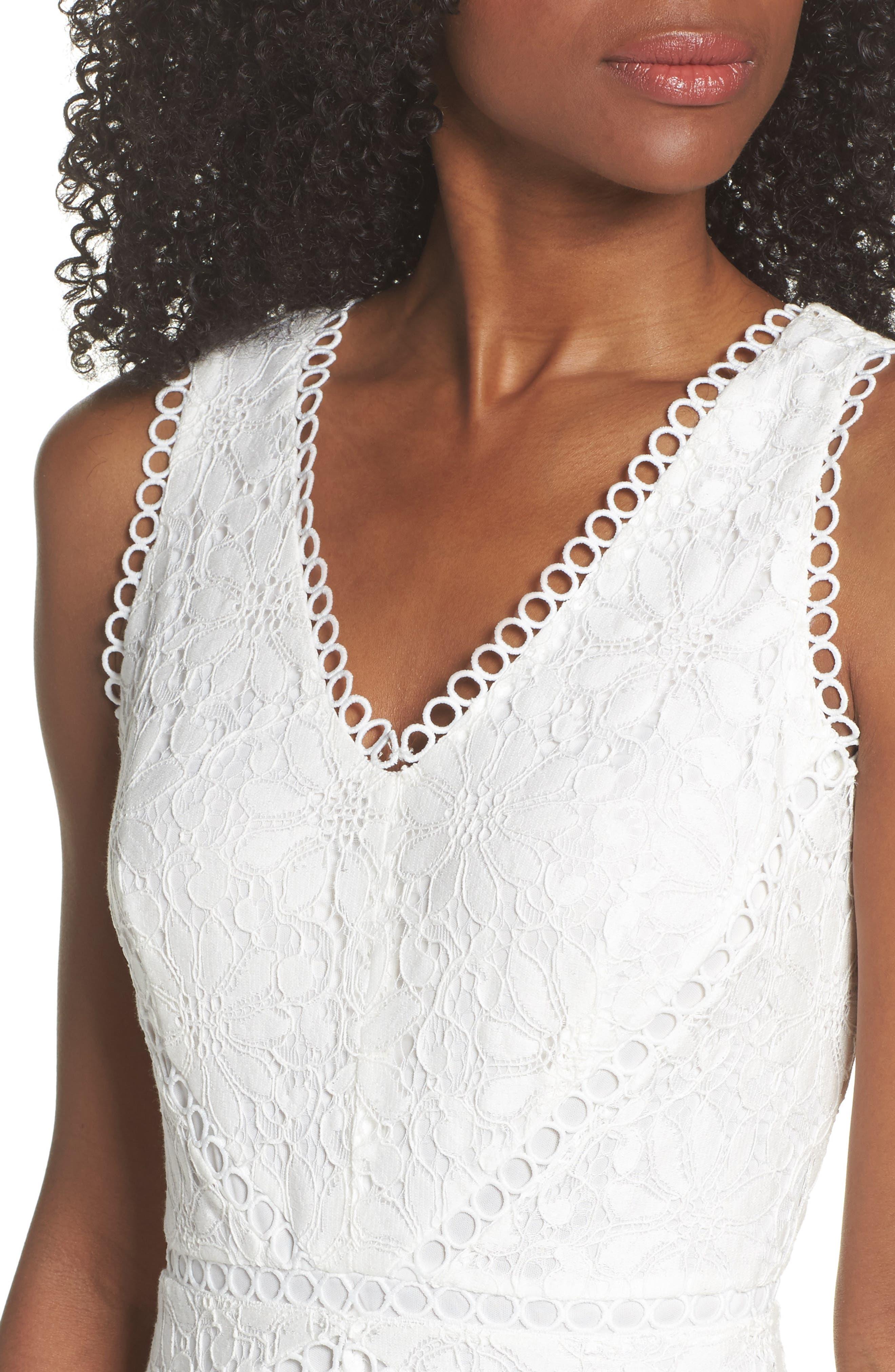 Lace Midi Dress,                             Alternate thumbnail 4, color,                             902