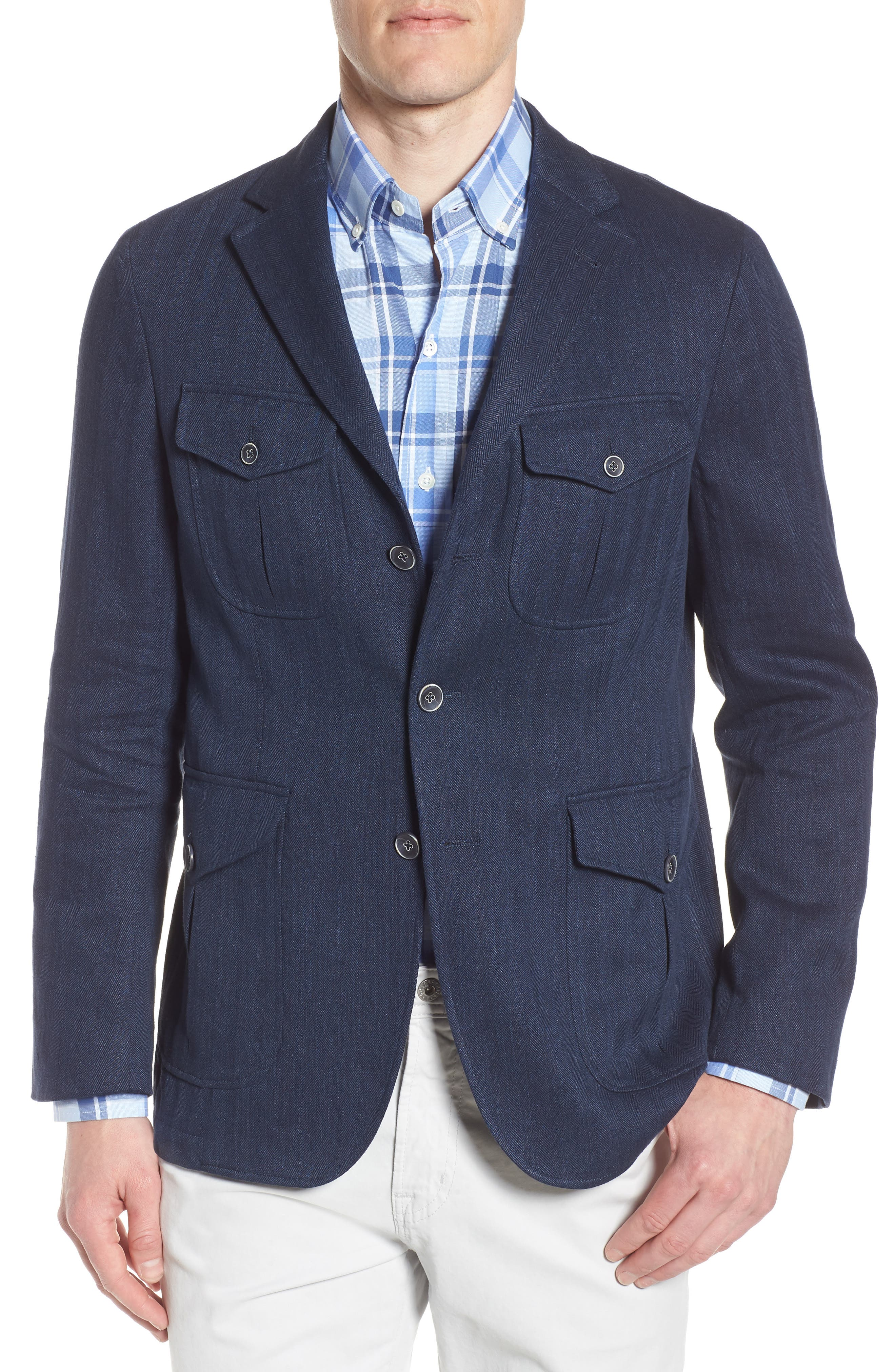Herringbone Safari Blazer,                             Main thumbnail 1, color,                             411