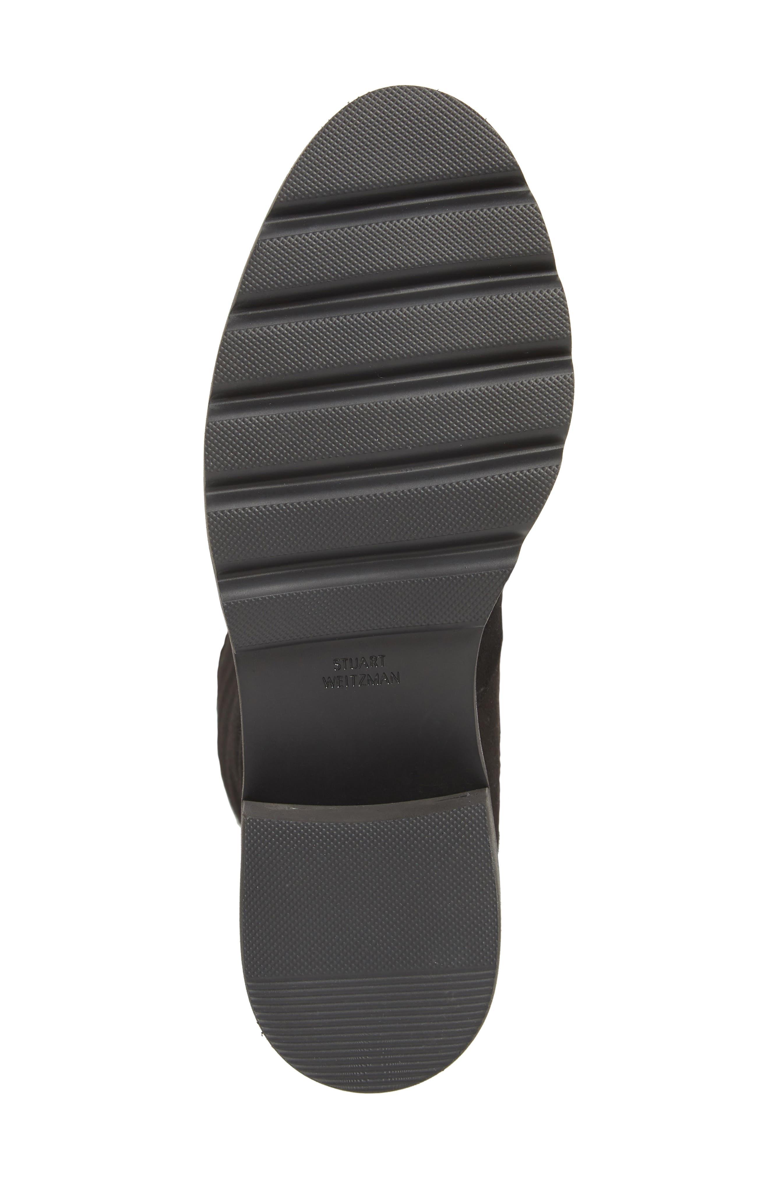 Eldridge Over the Knee Boot,                             Alternate thumbnail 6, color,                             BLACK SUEDE