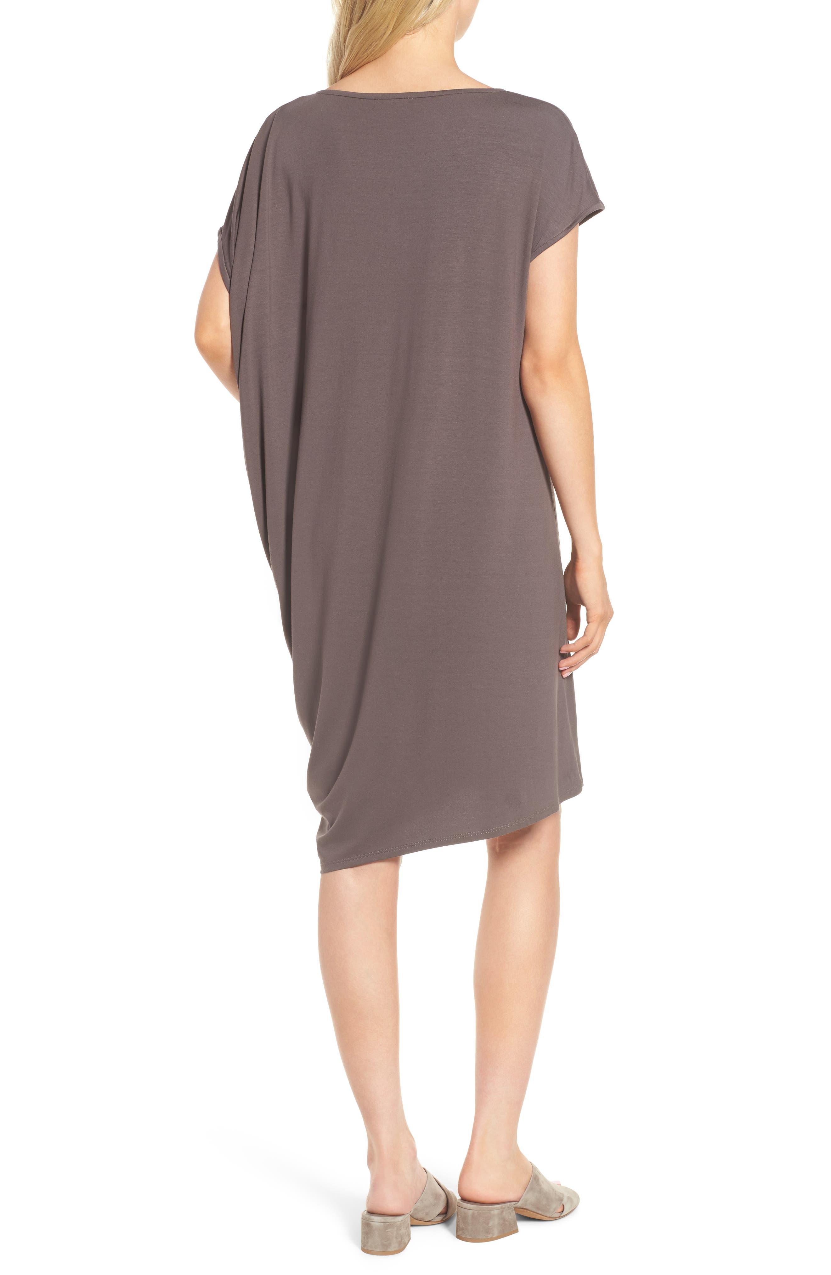 Asymmetrical Jersey Shift Dress,                             Alternate thumbnail 6, color,