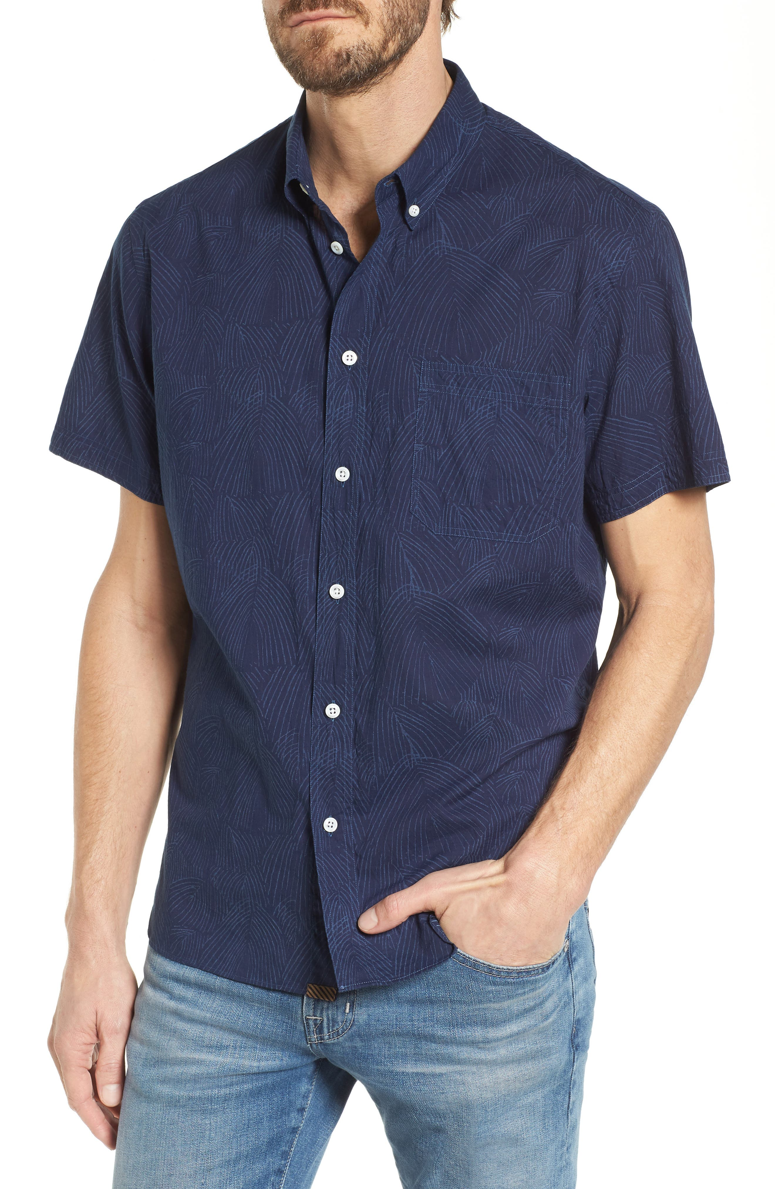 Tuscumbia Slim Fit Sport Shirt,                         Main,                         color, 407