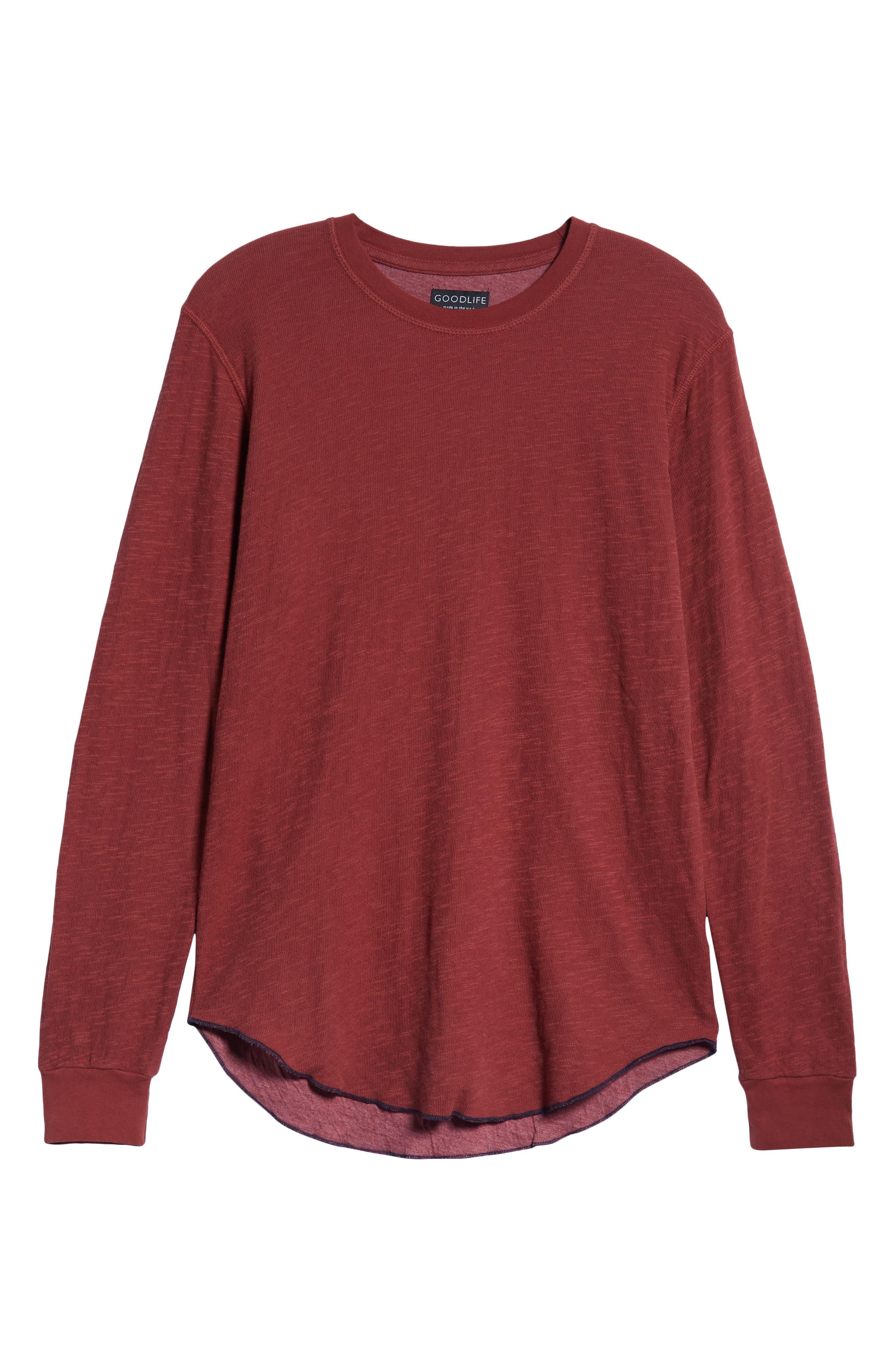 Double Layer Slim Crewneck T-Shirt,                             Alternate thumbnail 37, color,