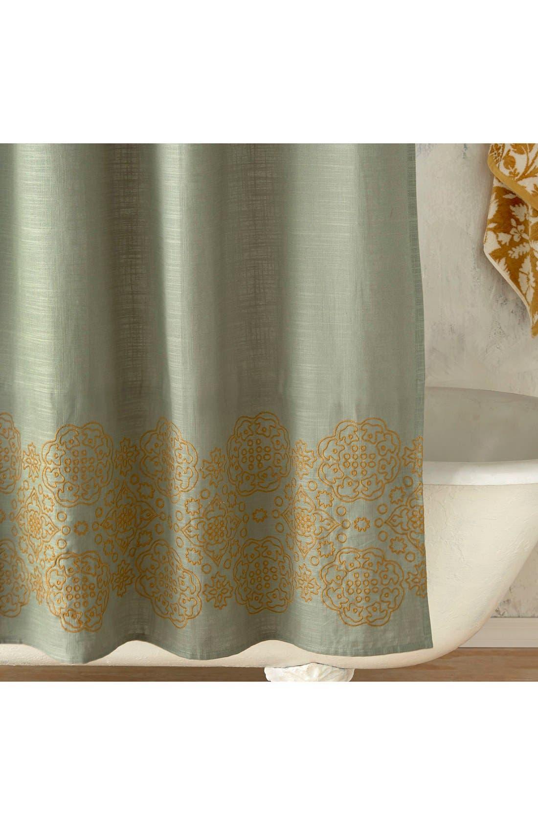 'Ajrak' Shower Curtain,                             Alternate thumbnail 2, color,
