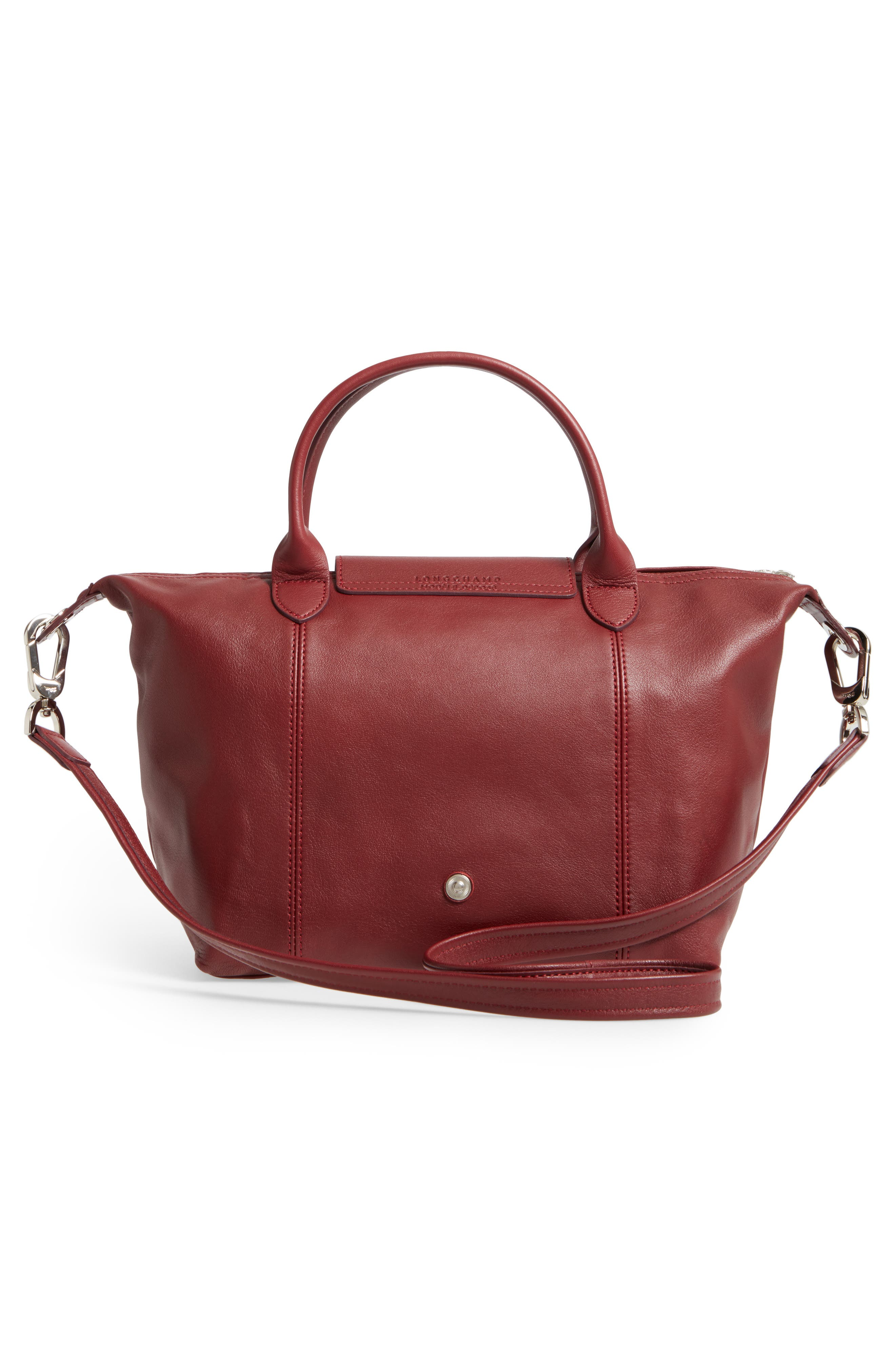 Small 'Le Pliage Cuir' Leather Top Handle Tote,                             Alternate thumbnail 53, color,