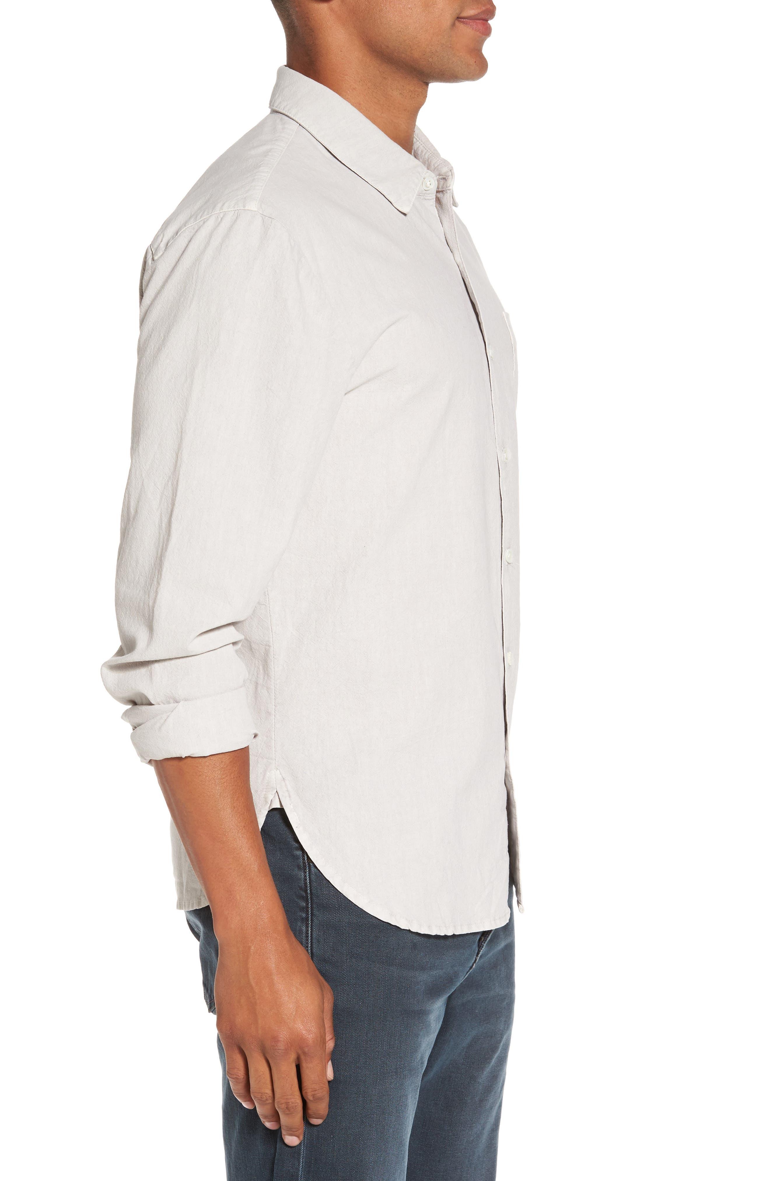 Slim Cotton Sport Shirt,                             Alternate thumbnail 3, color,                             058