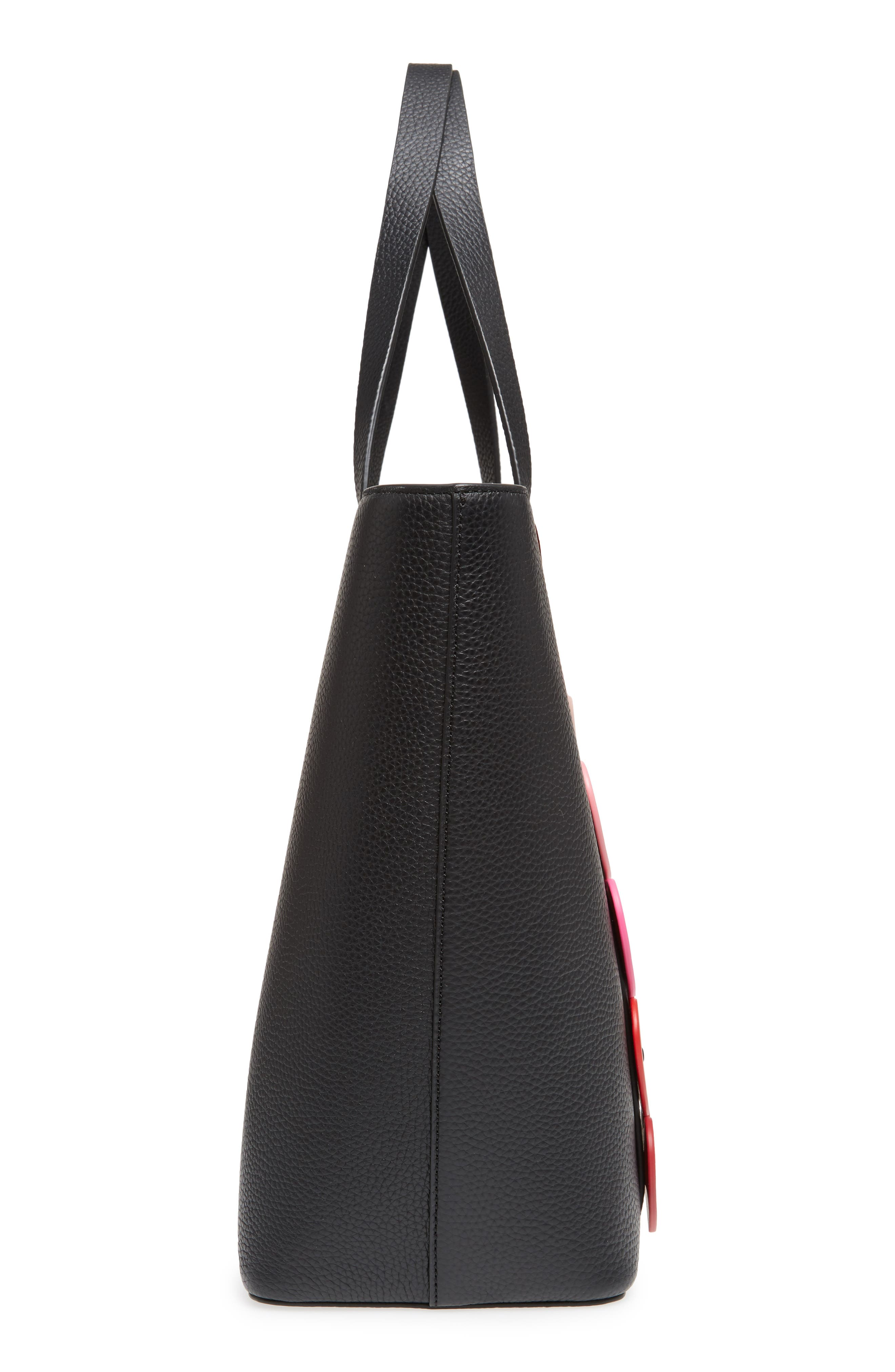 yours truly - ombré heart leather tote,                             Alternate thumbnail 5, color,