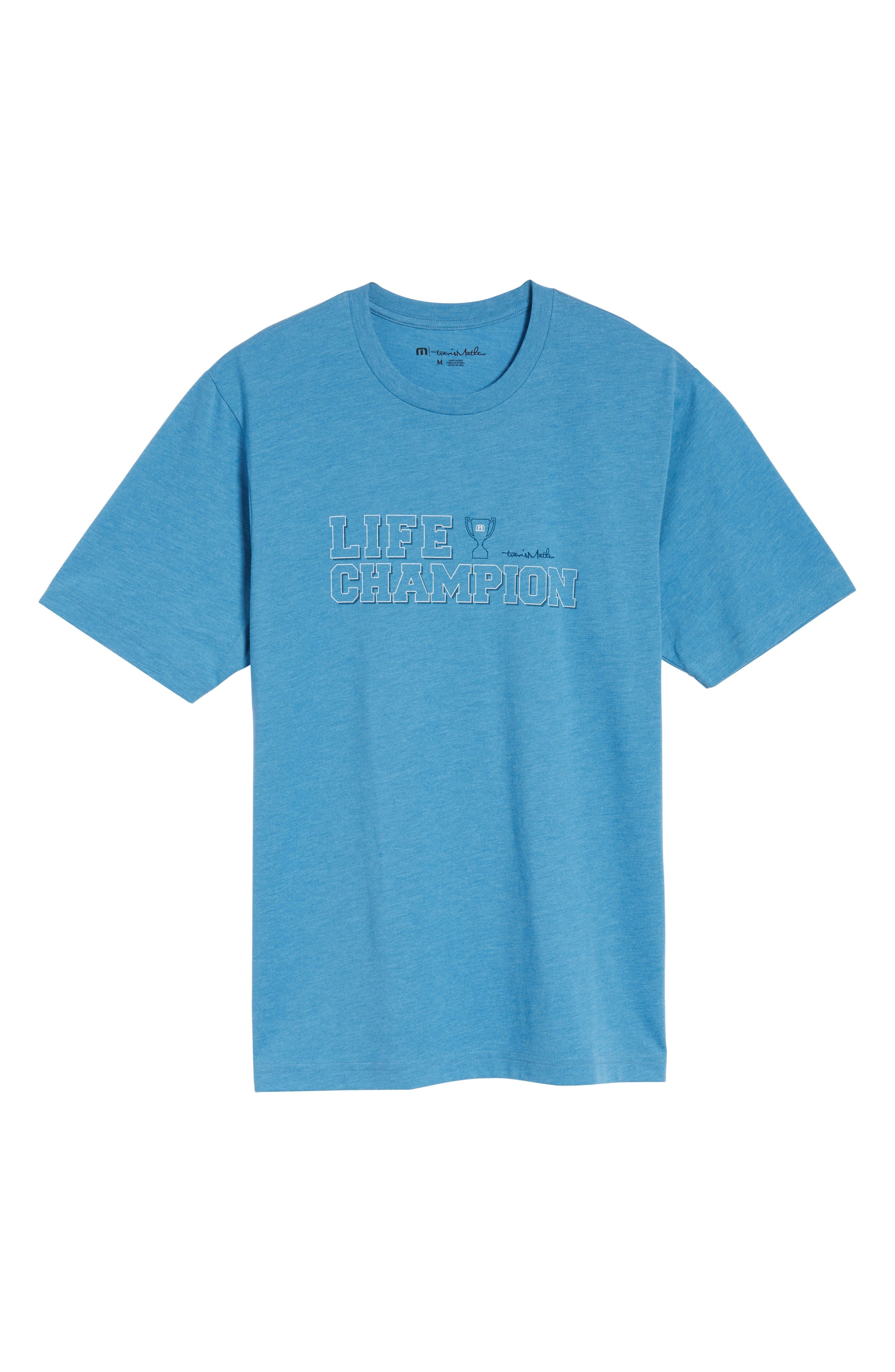 Life Champion Graphic T-Shirt,                             Alternate thumbnail 6, color,                             400