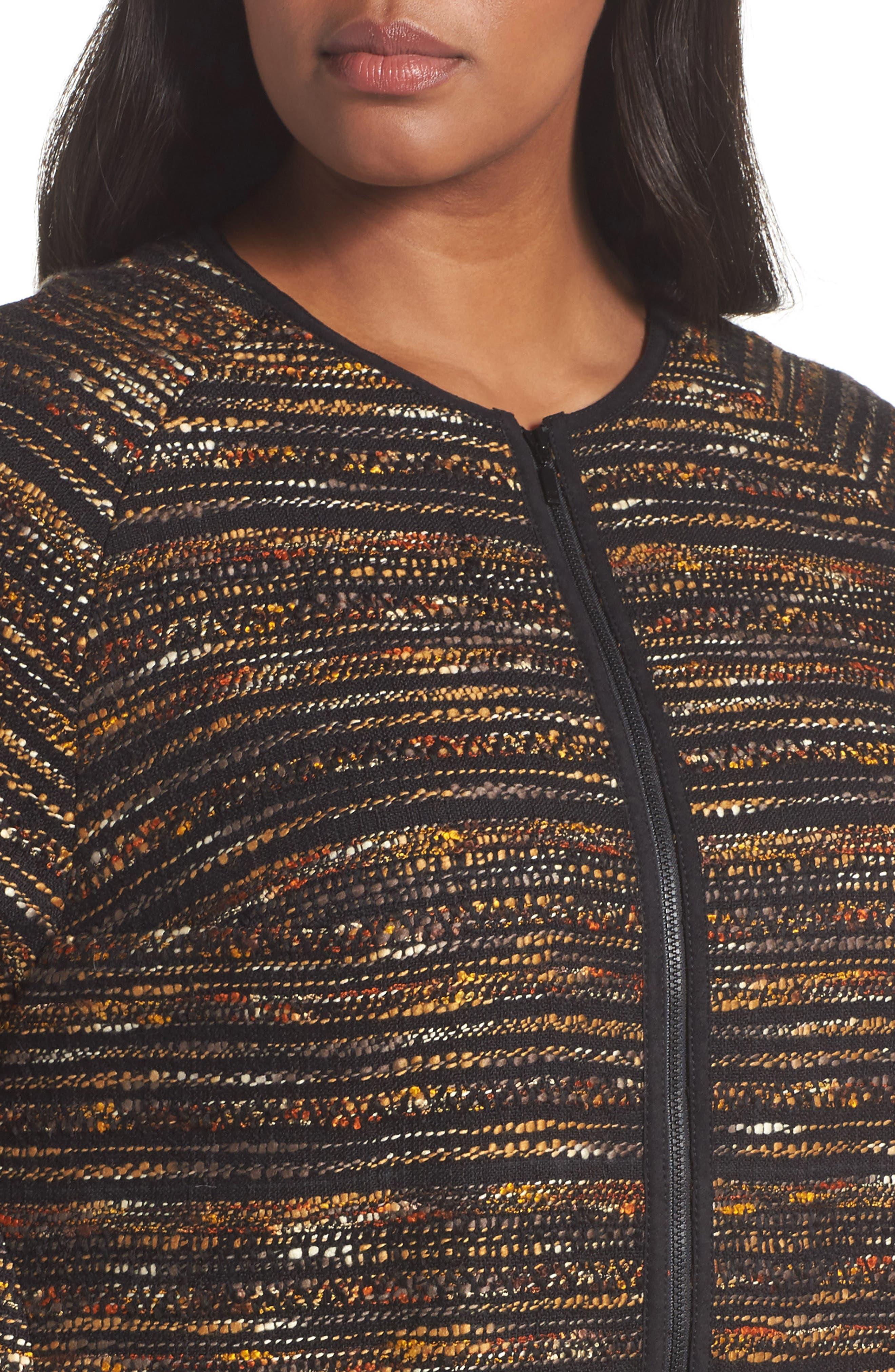 Alexa Tweed Jacket,                             Alternate thumbnail 4, color,                             003