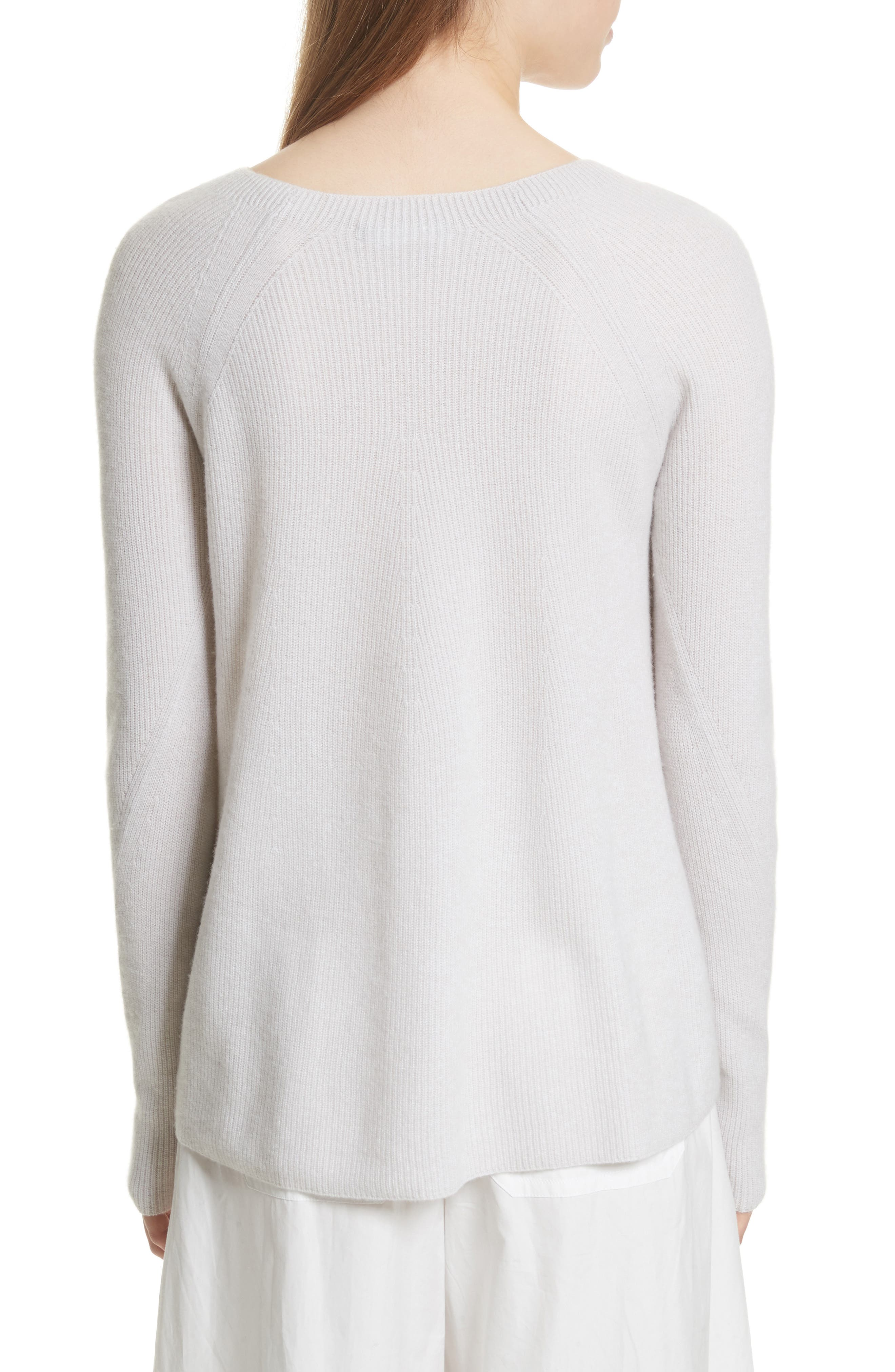 Ribbed Cashmere Sweater,                             Alternate thumbnail 6, color,